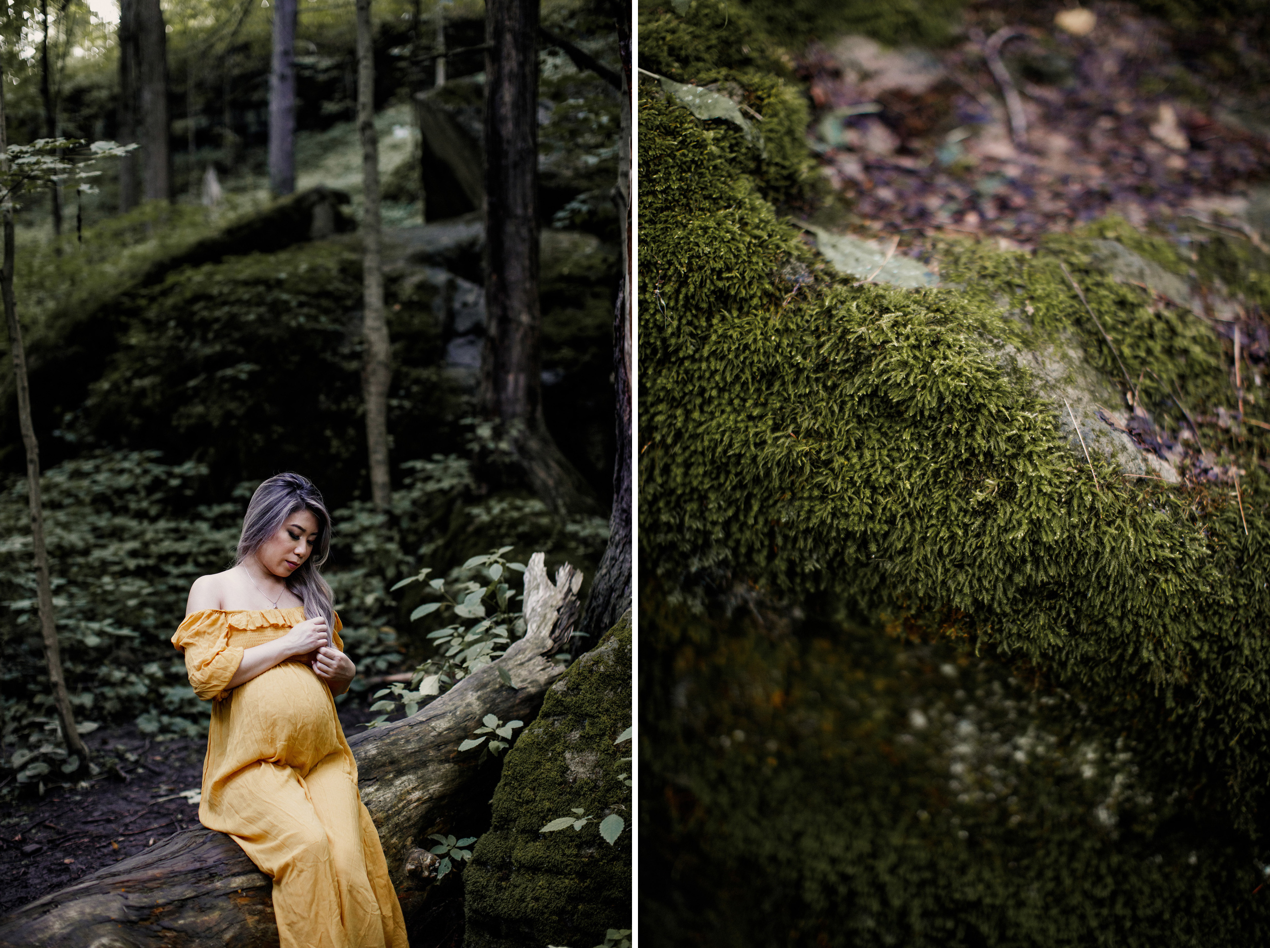 outdoor maternity boudoir nude niagara forest