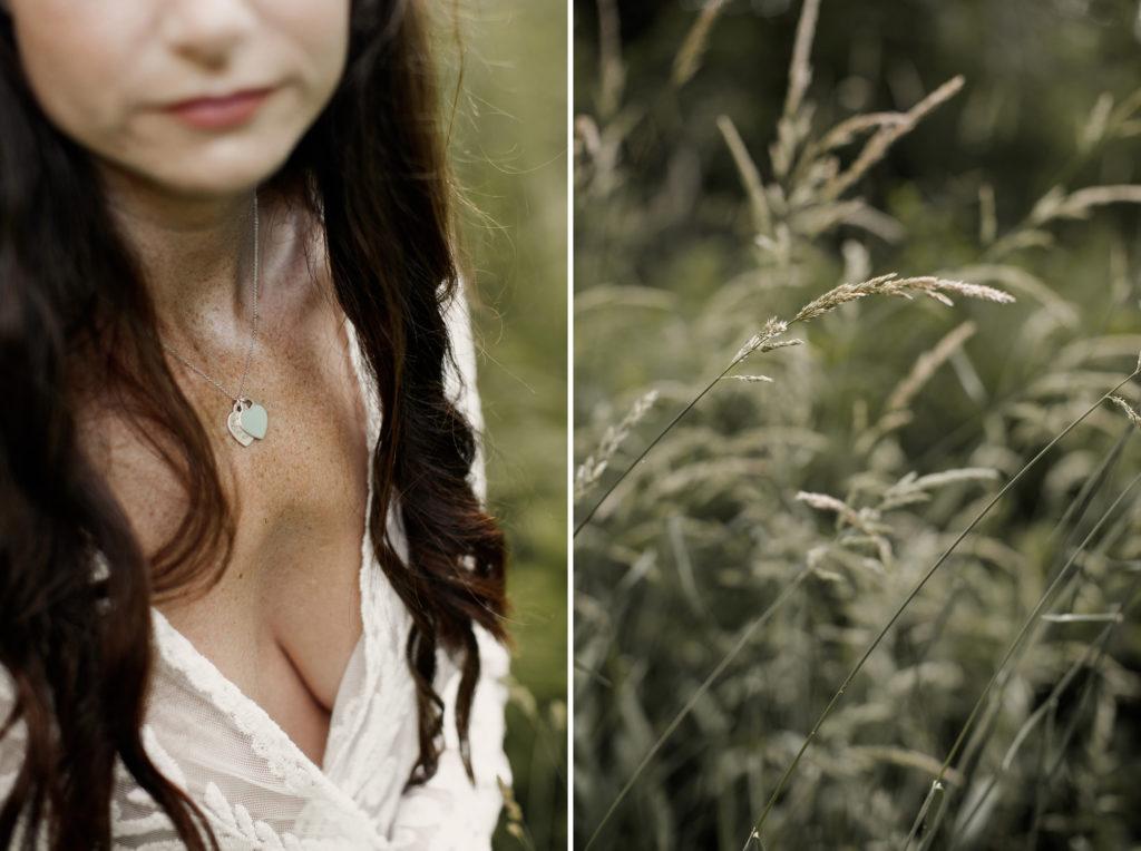grasses and sheer lingerie robe niagara boudoir photographer
