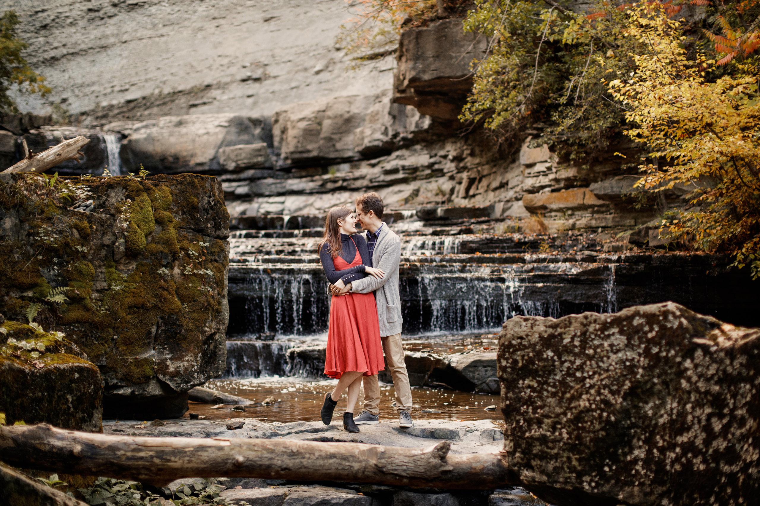 Niagara engagement session river waterfalls wedding photographer