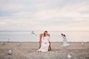 Niagara maternity photography beach shoot