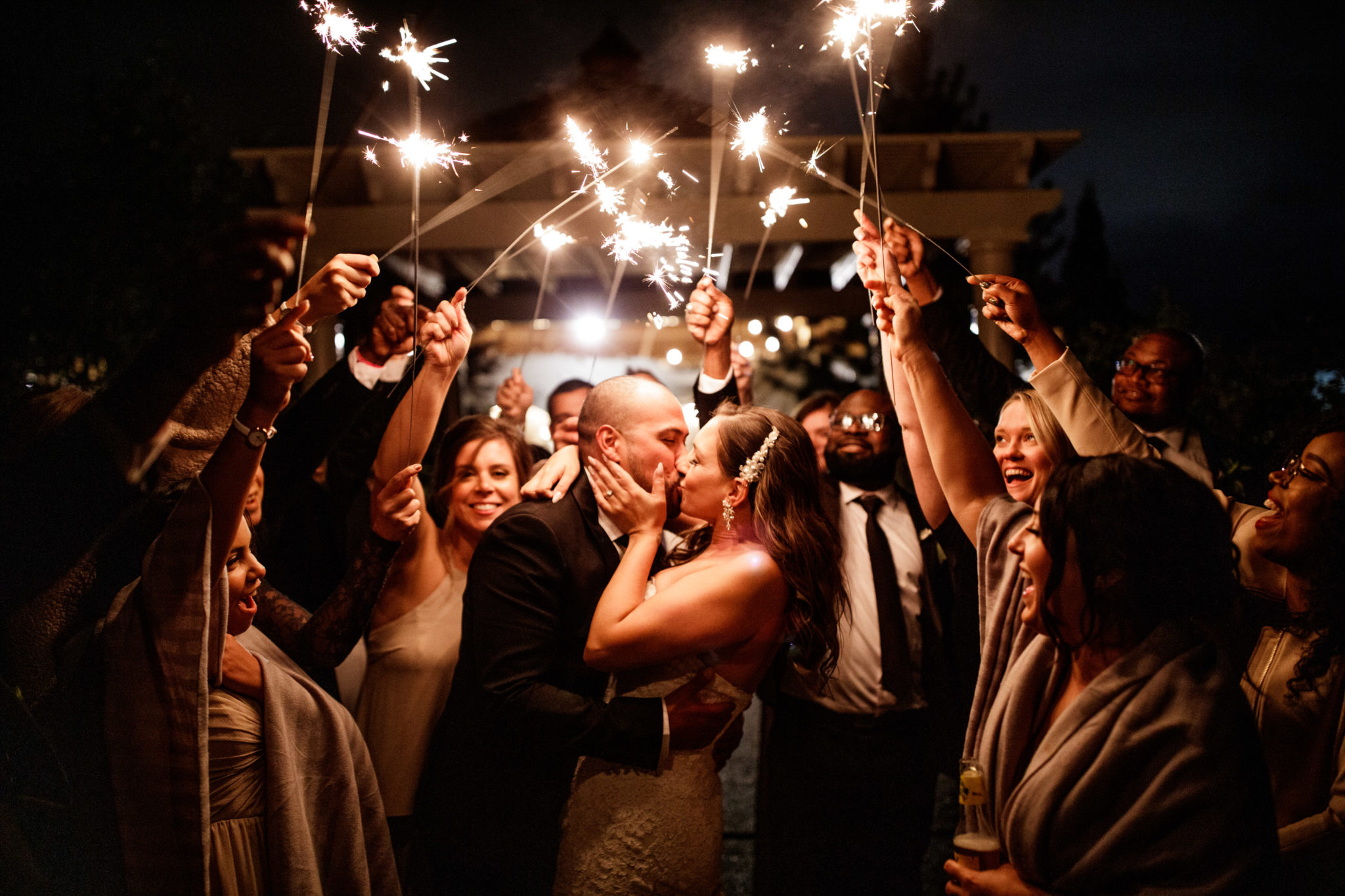 club-roma-wedding-niagara-sparklers-guests