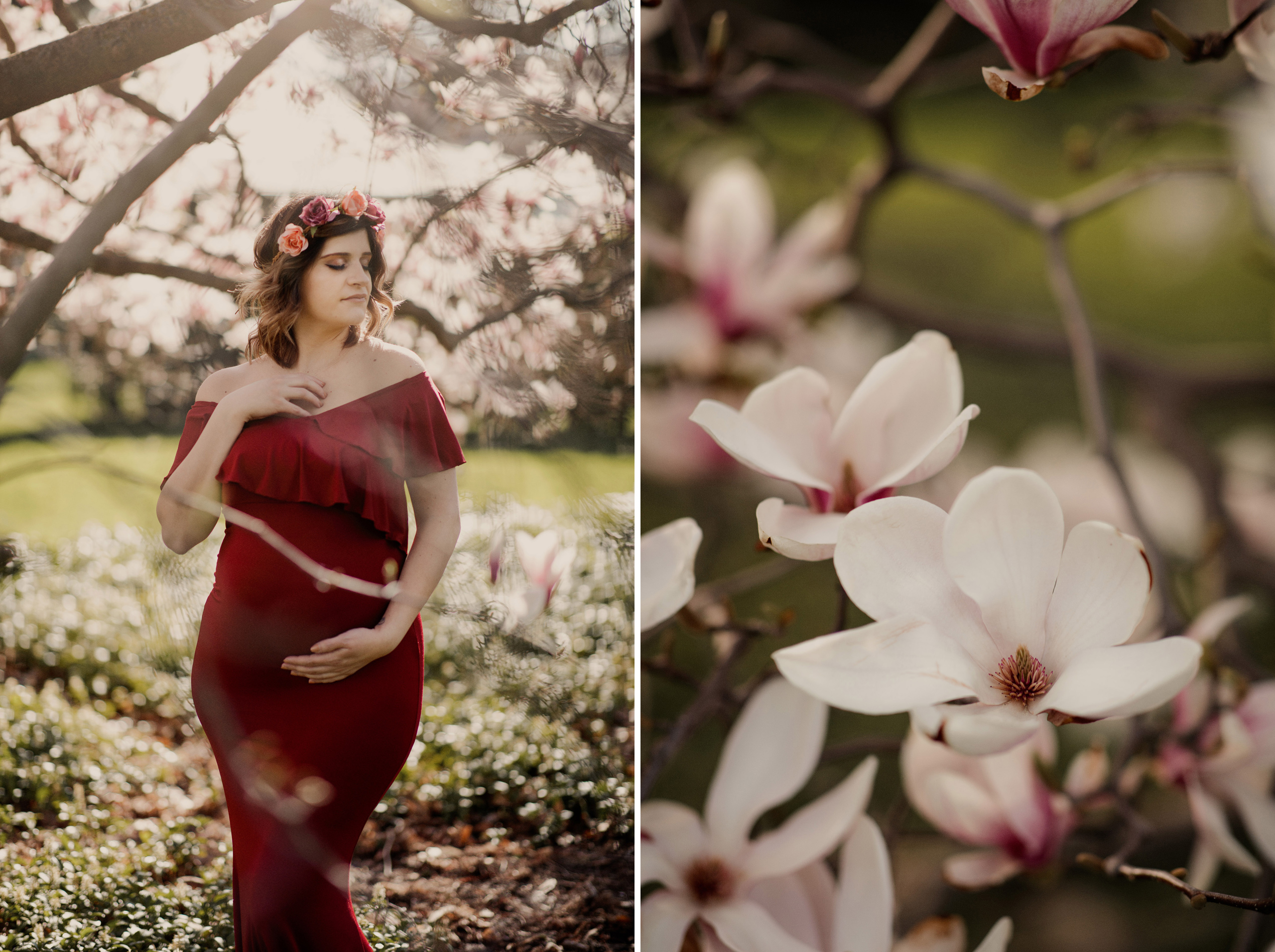 fine art niagara maternity photography spring