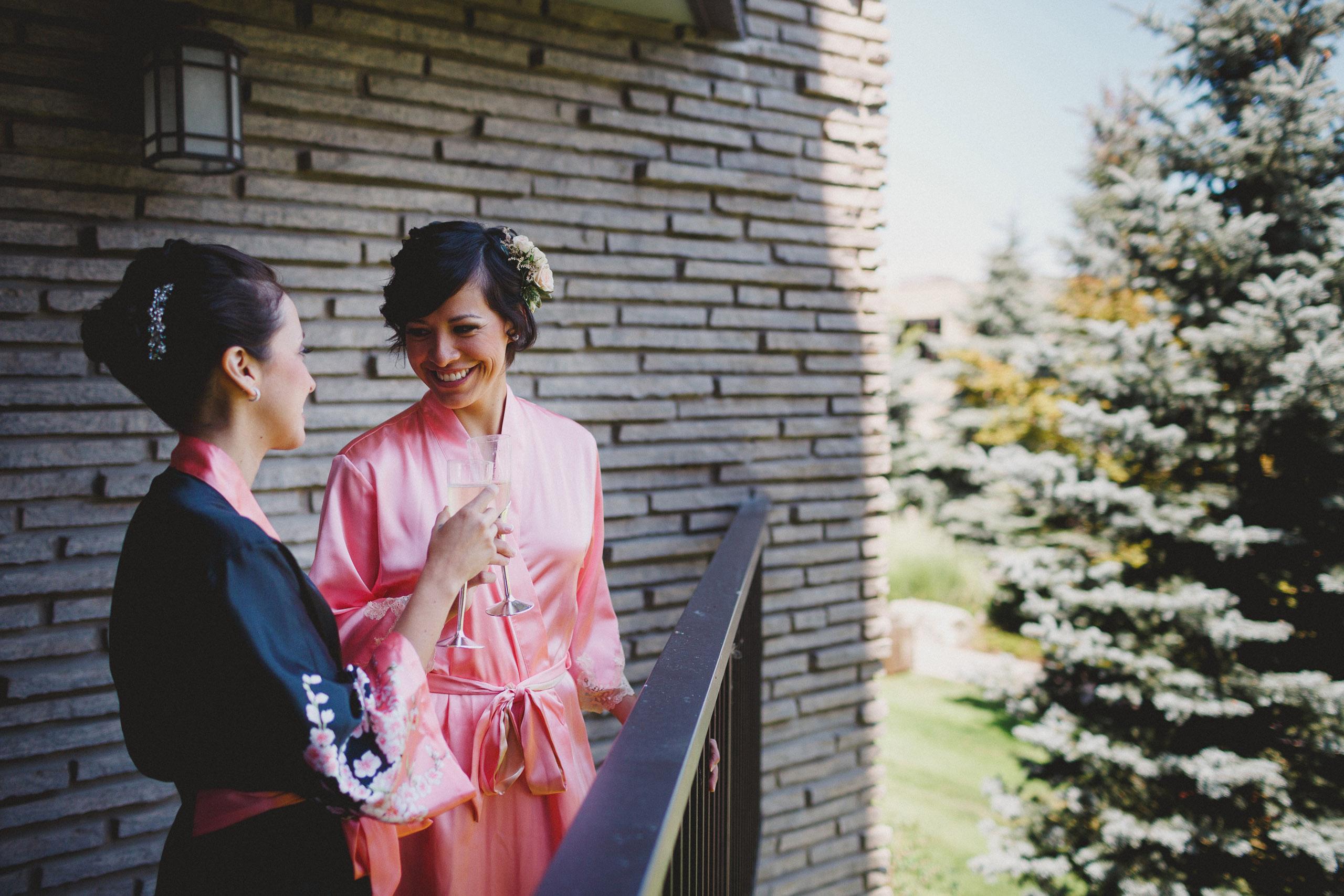 two brides wedding prep white oaks resort niagara on the lake