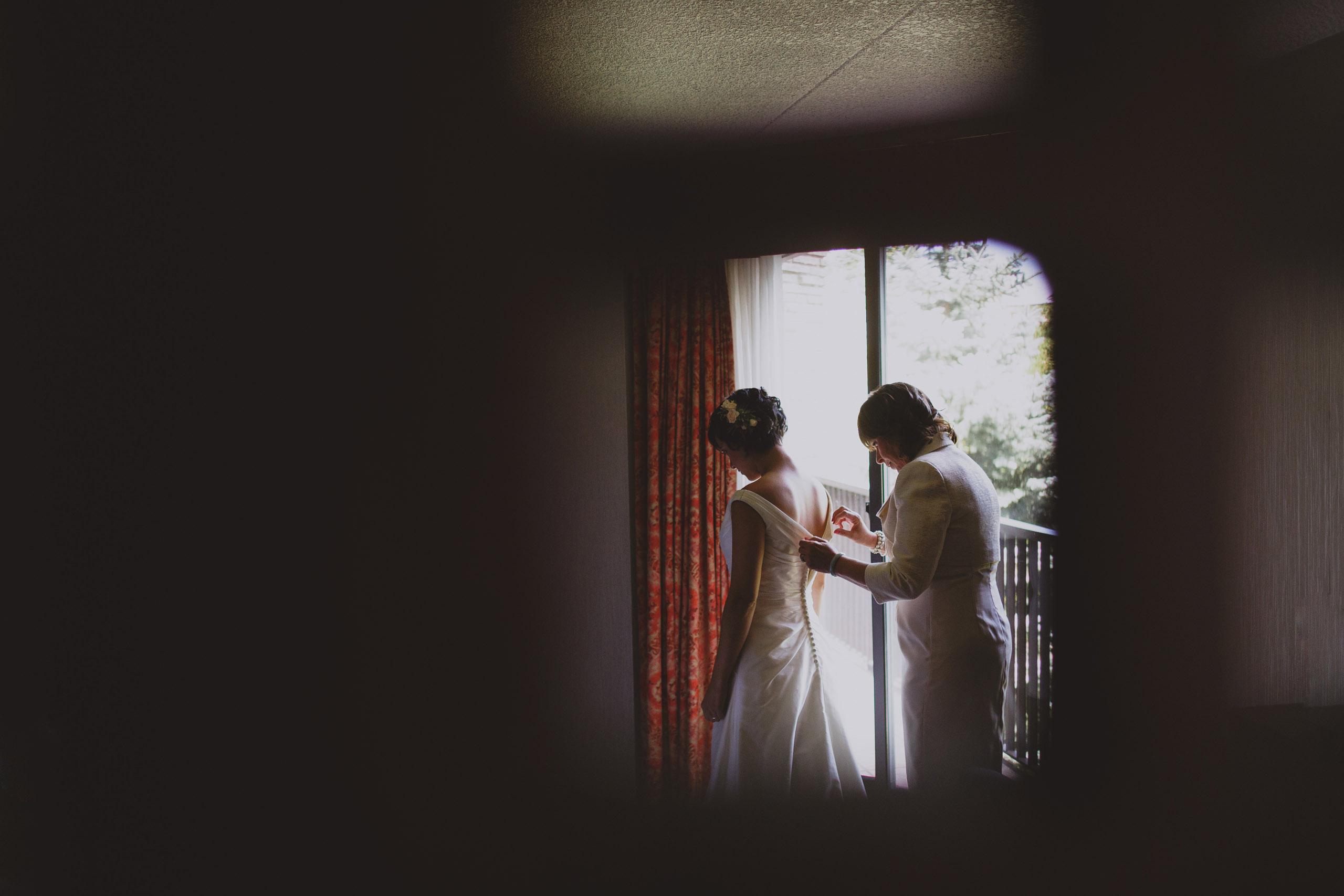two brides same sex wedding prep white paks resort niagara on the lake
