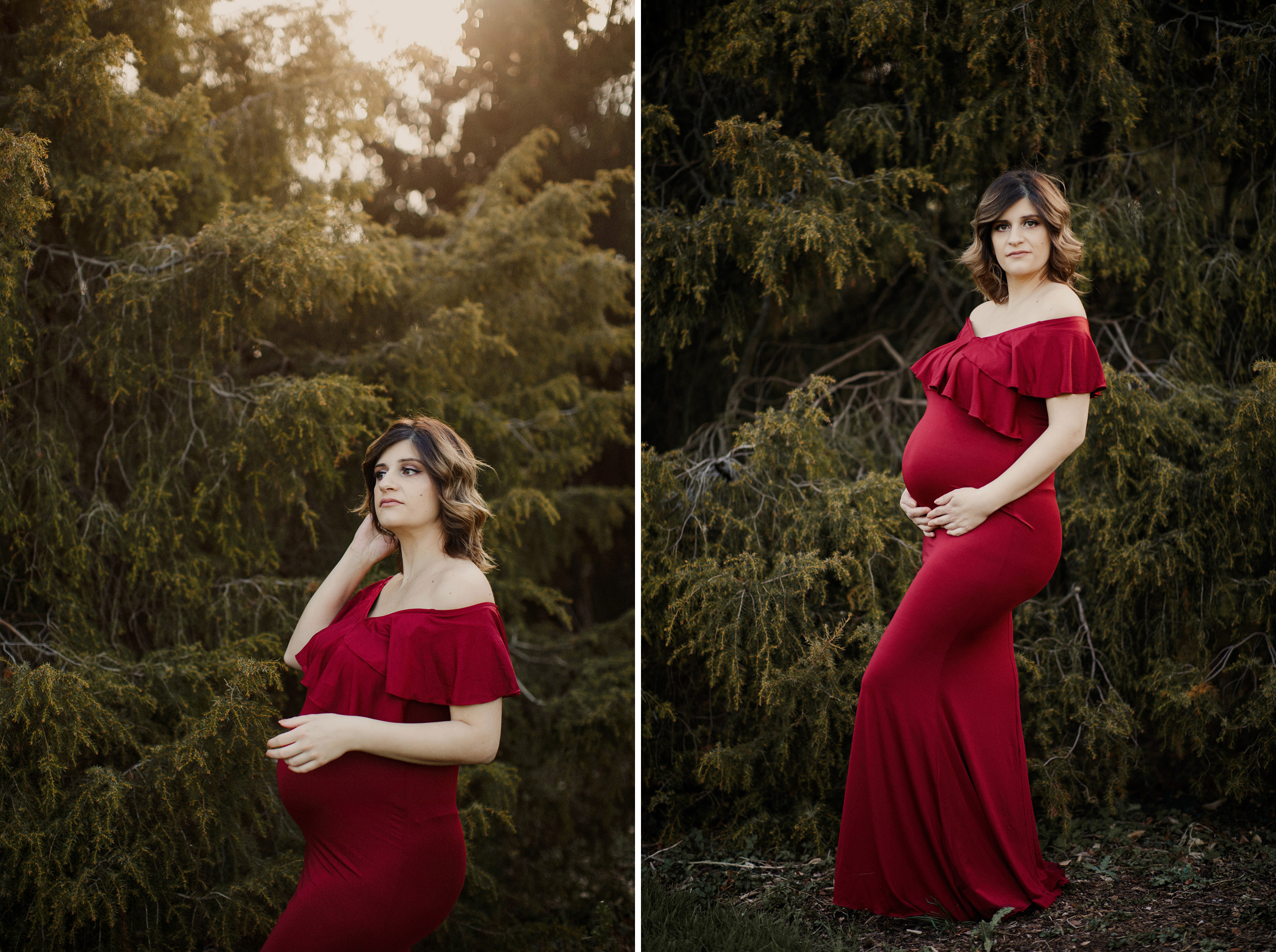 fine art niagara maternity photographer outdoor shoot