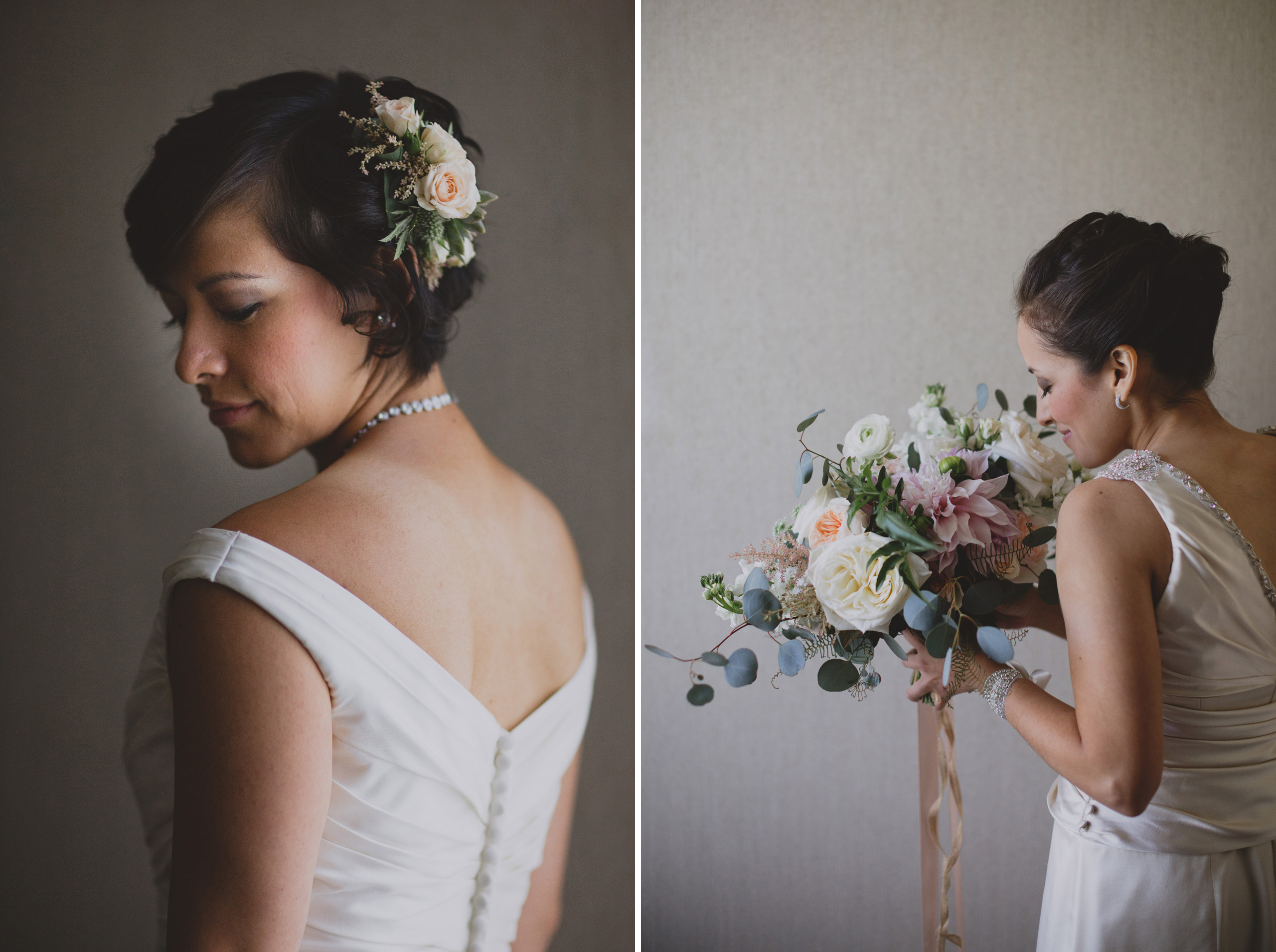 beautiful same sex wedding brides portrait white oaks lgbtq