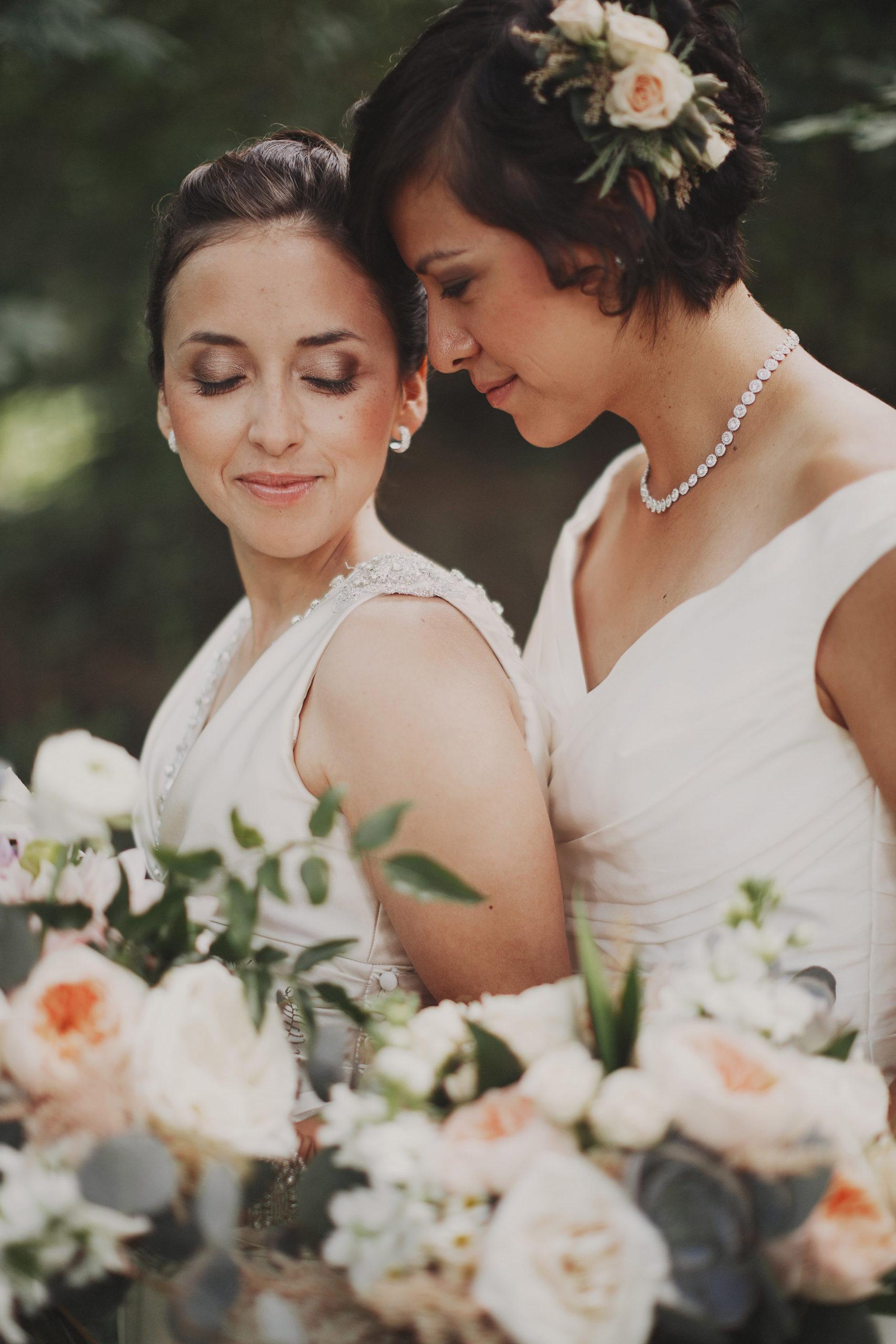 forest two brides same sex lesbian wedding niagara photographer