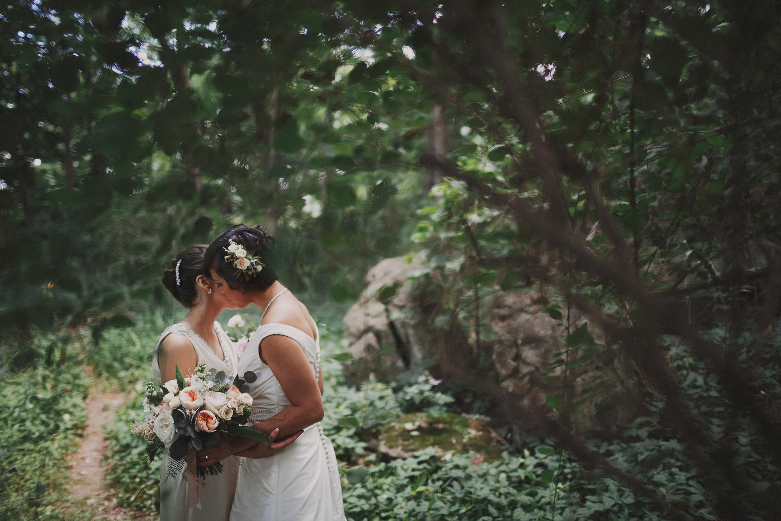 bloom and co flowers same sex brides wedding lgbtq niagara photographer
