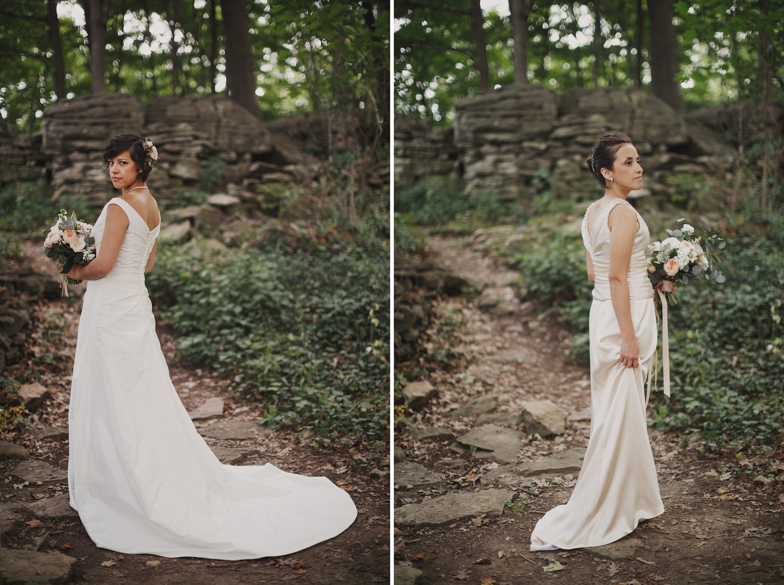 forest wedding two brides lgbtq photographer niagara