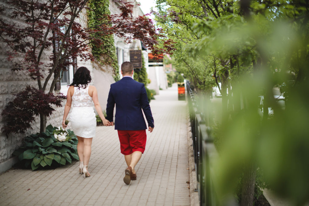 inn on the twenty elopement main street bride groom