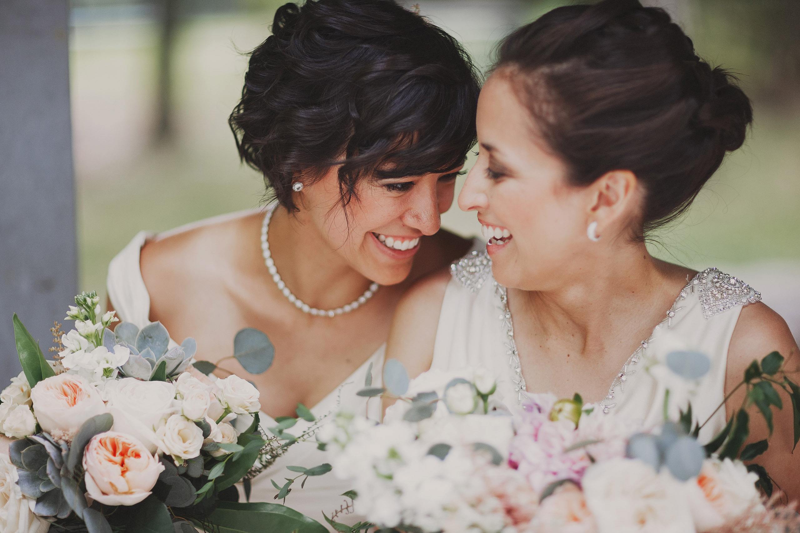cute lesbian bride wedding bloom and co niagara on the lake photographer