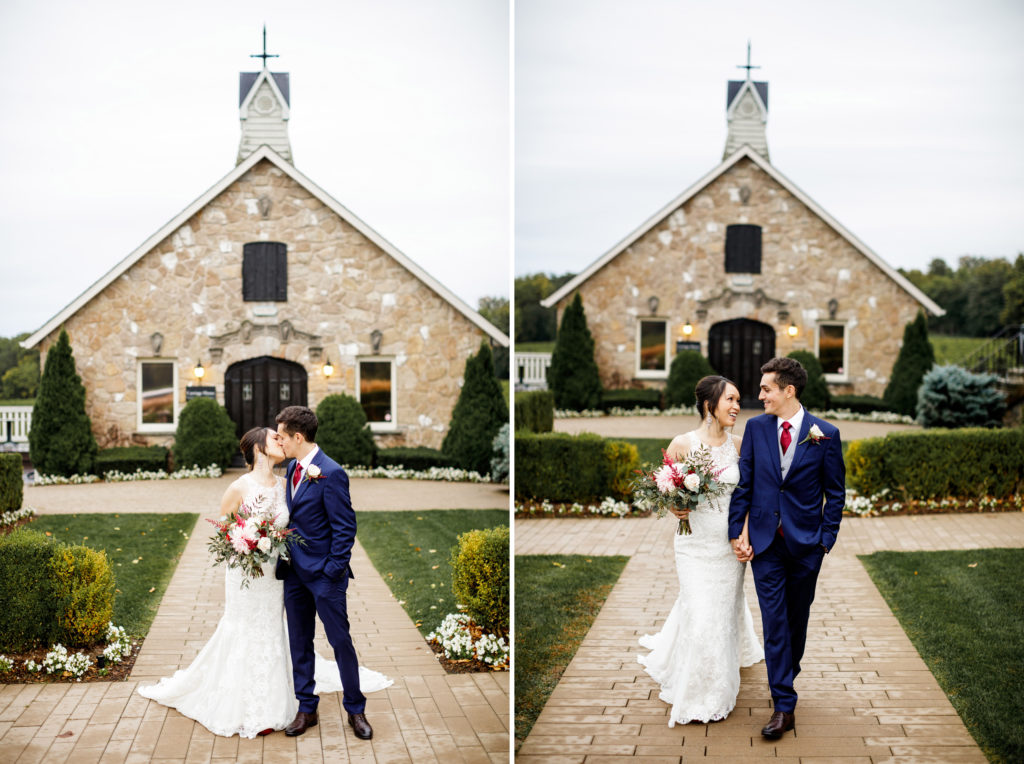 carriage house wedding vineland estates winery country basket florals