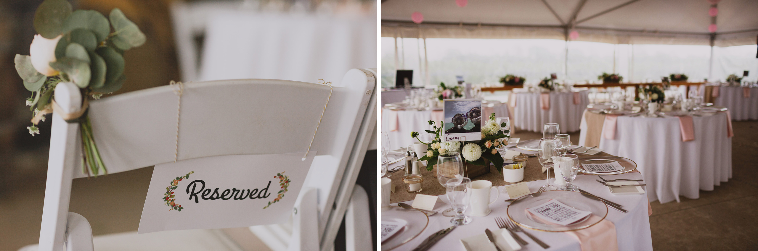 wedding reception tent southbrook winery vineyard pink bloom and company