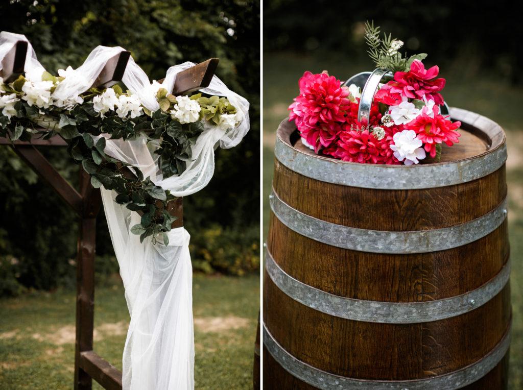 balls falls outdoor ceremony brooker events summer niagara wedding photographer