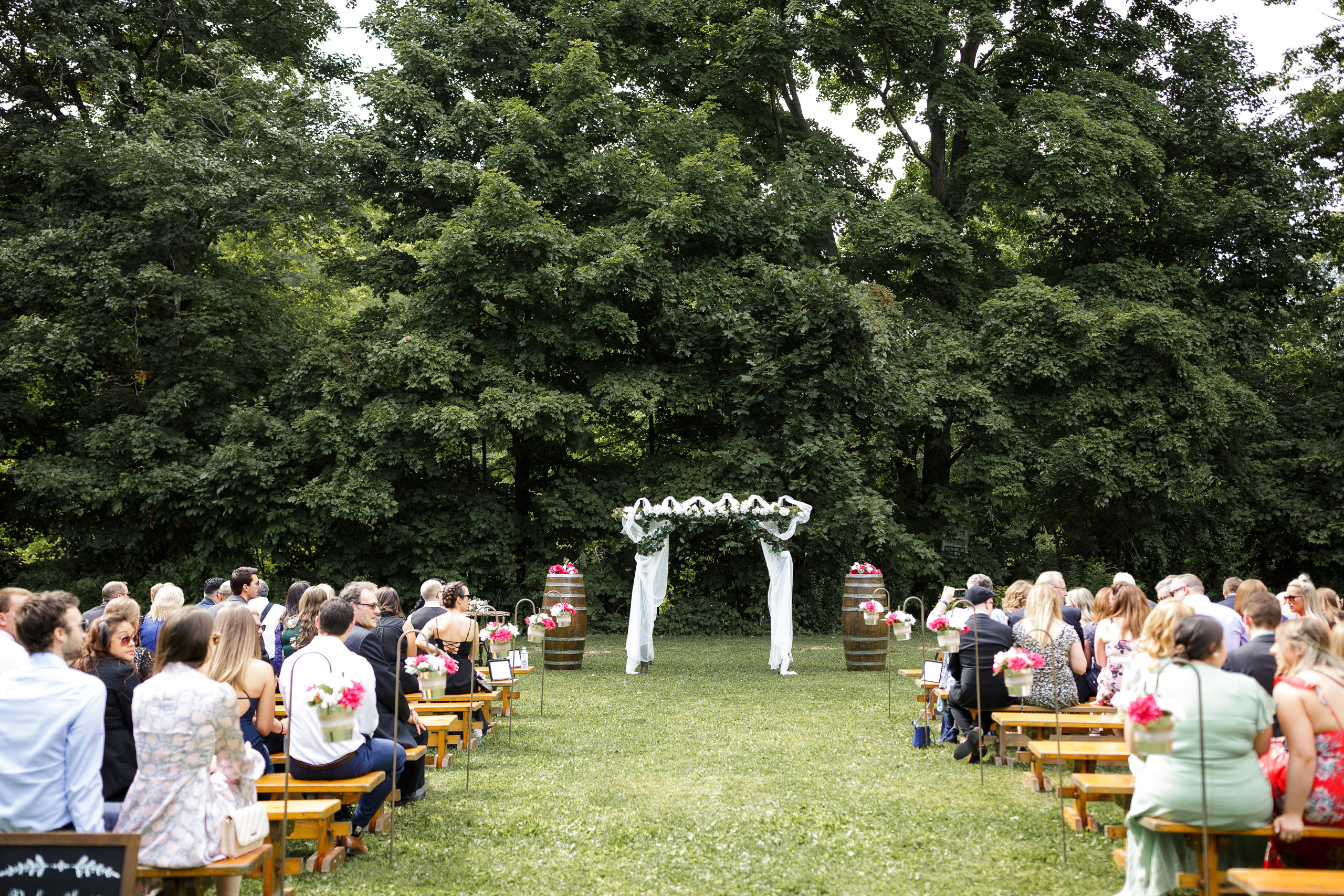 balls falls outdoor wedding ceremony brooker events planning wedding photographer jordan