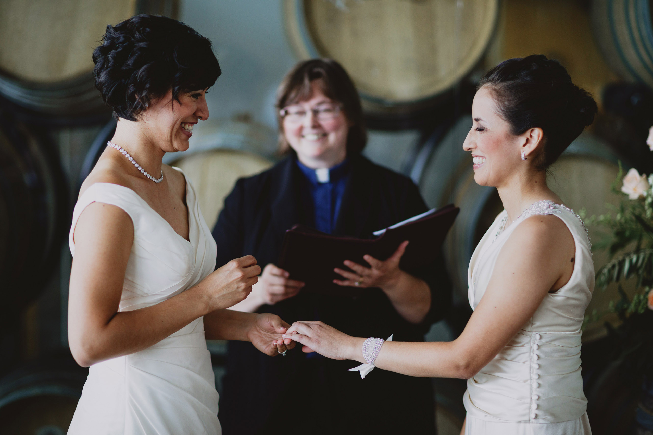 indoor wedding ceremony same sex lesbian lgbtq southbook niagara