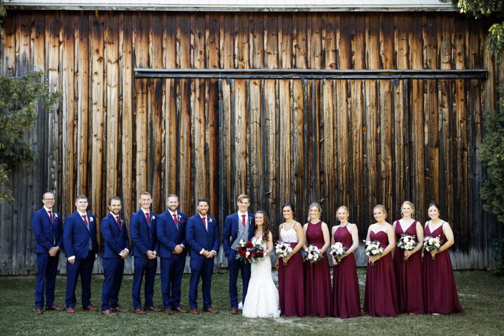 outdoor wedding ceremony barn balls falls niagara wedding photographer brooker events