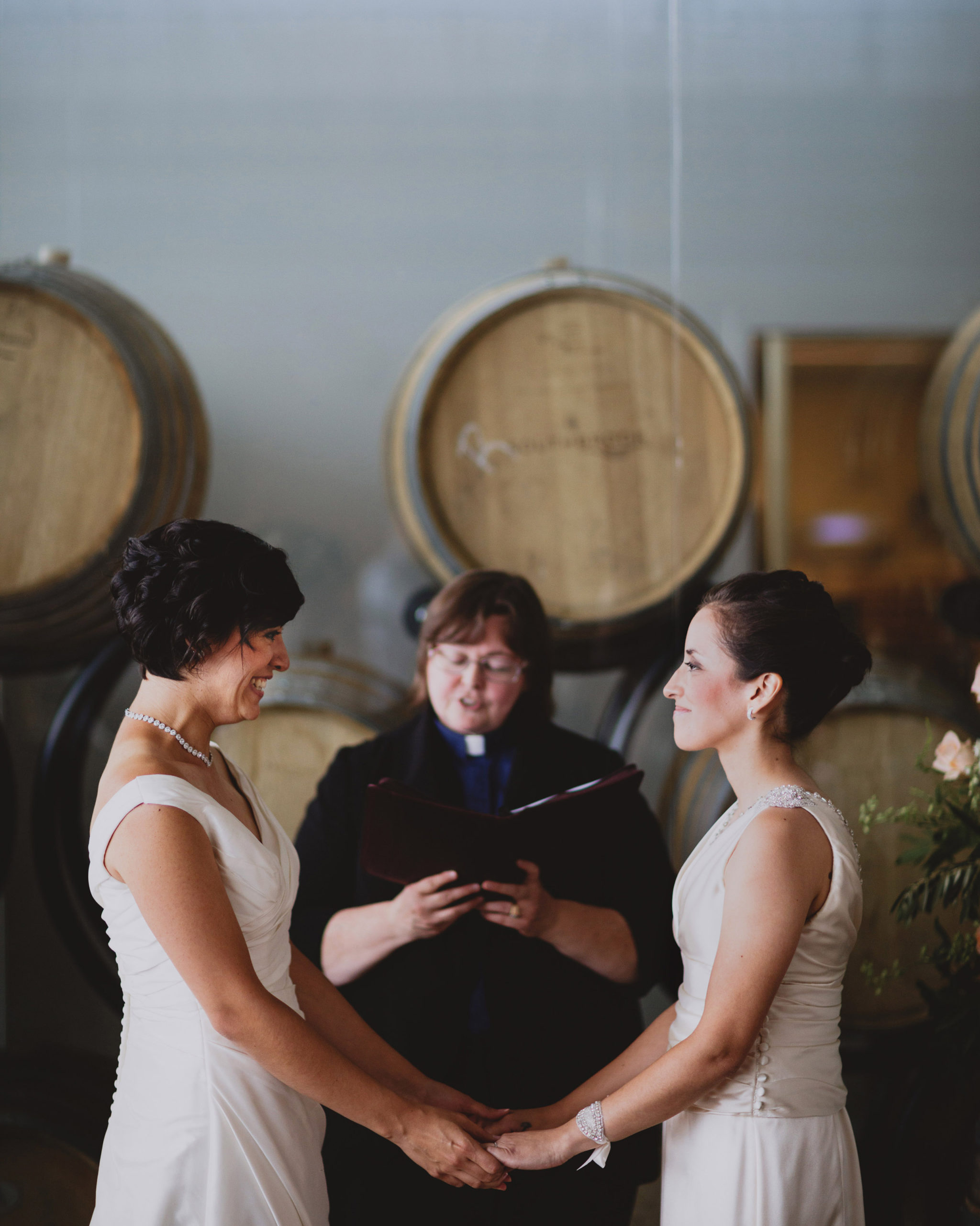 indoor wedding ceremony same sex lesbian lgbtq southbook niagara
