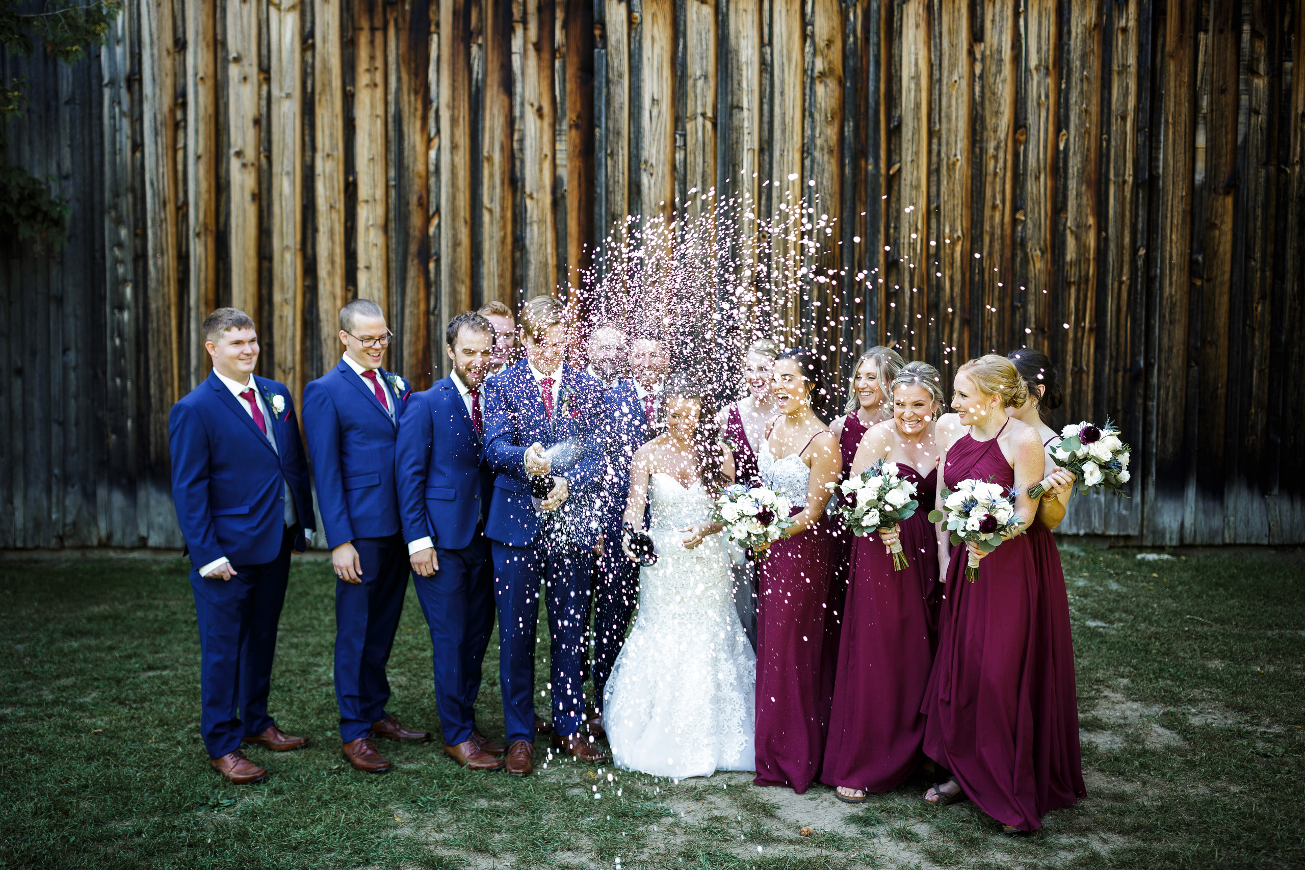 outdoor wedding ceremony barn balls falls niagara wedding photographer brooker events