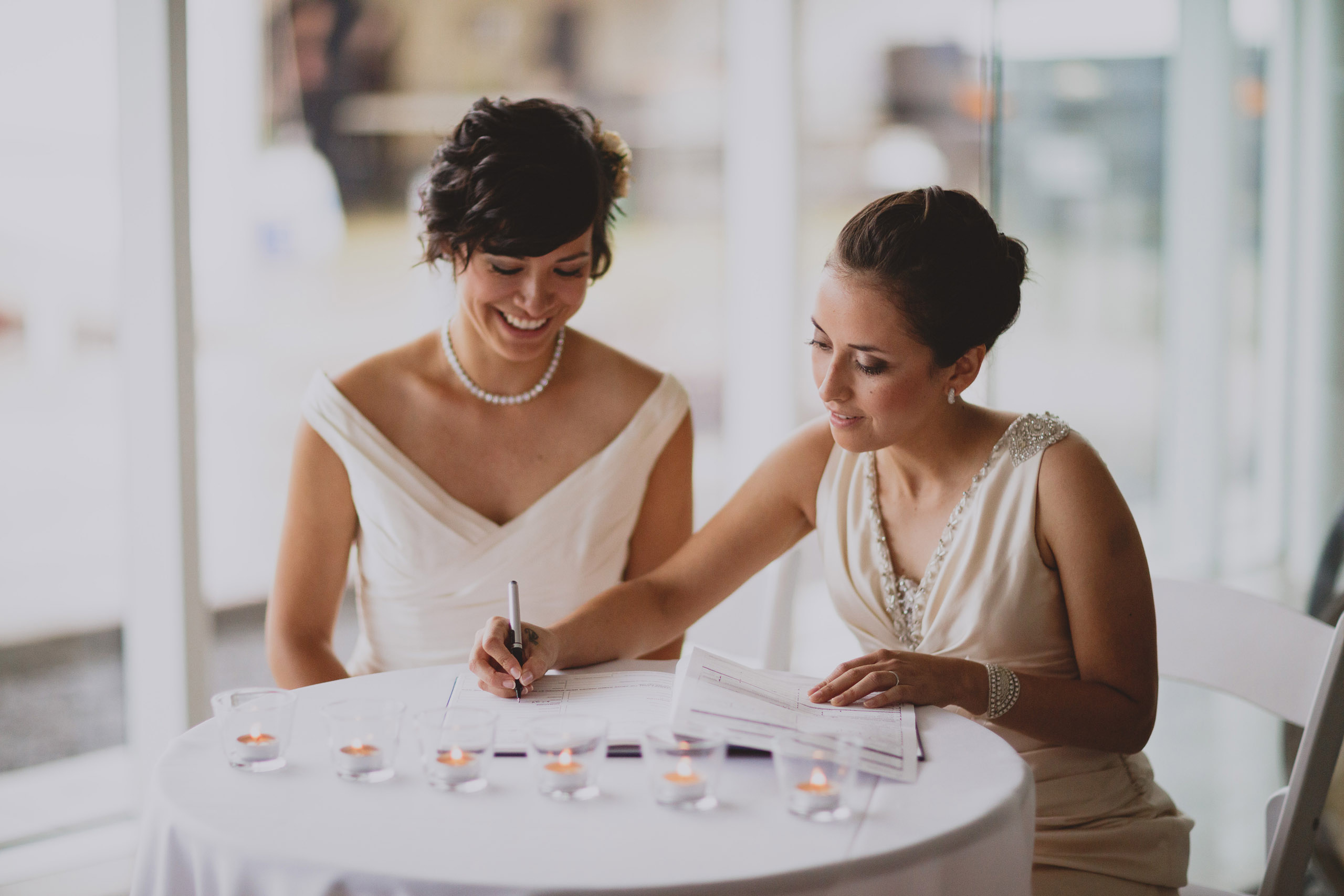two brides wedding southbook vineyard winery niagara photographer