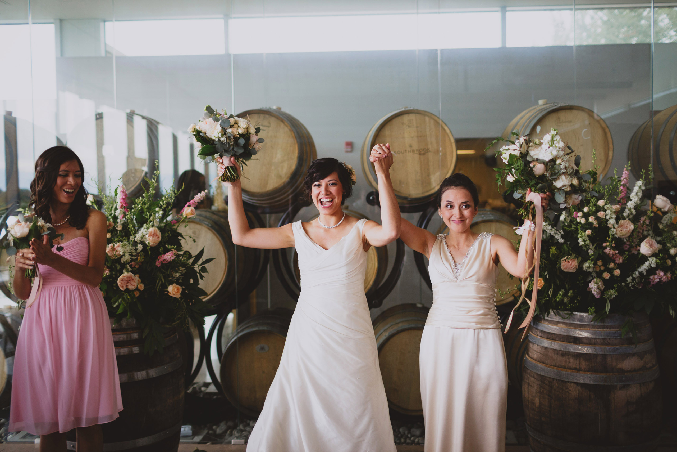 two brides wedding southbook vineyard winery niagara photographer