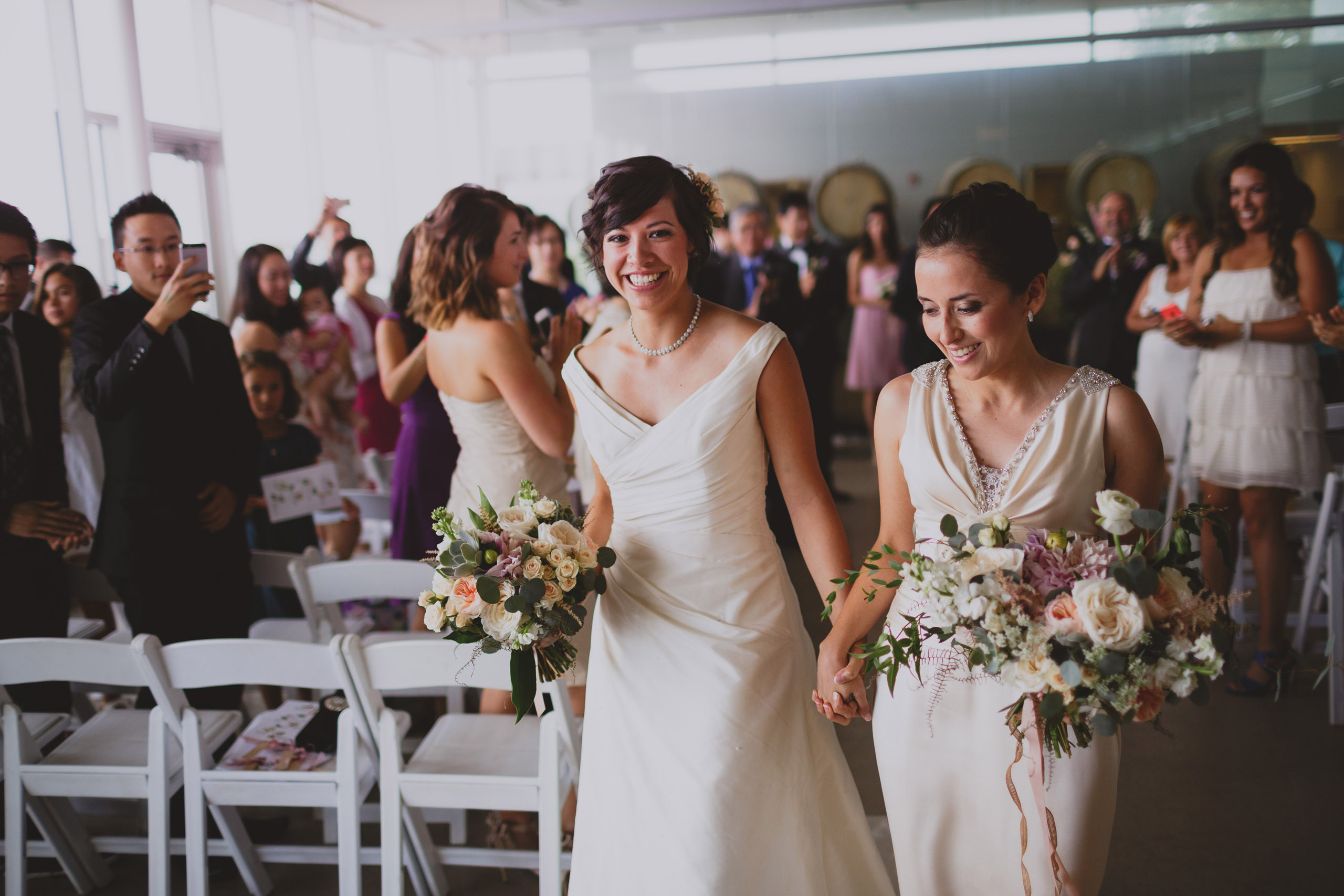 just married two brides lgbtq niagara southbook winery wedding
