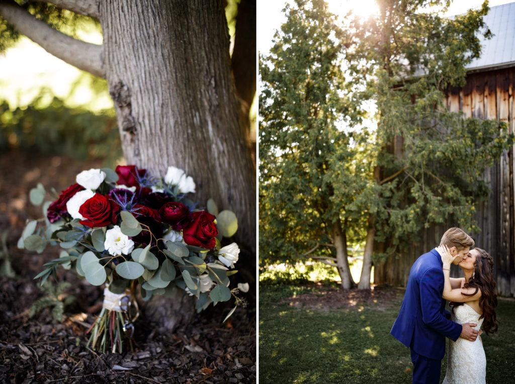 watering can floral bouquet wedding balls falls summer burgundy