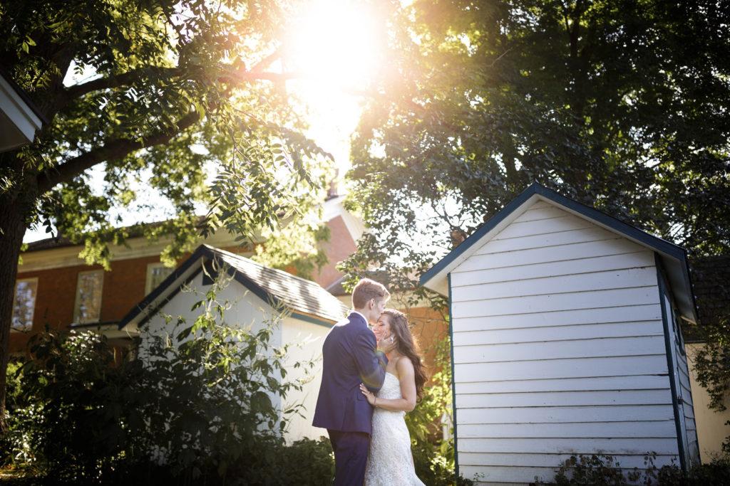 romantic wedding photography balls falls barn wedding niagara