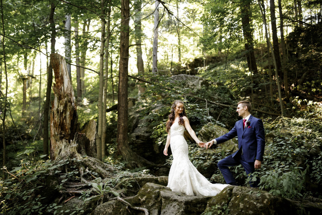 forest bride groom wedding niagara photographer southcoast beauty hair and makeup balls falls
