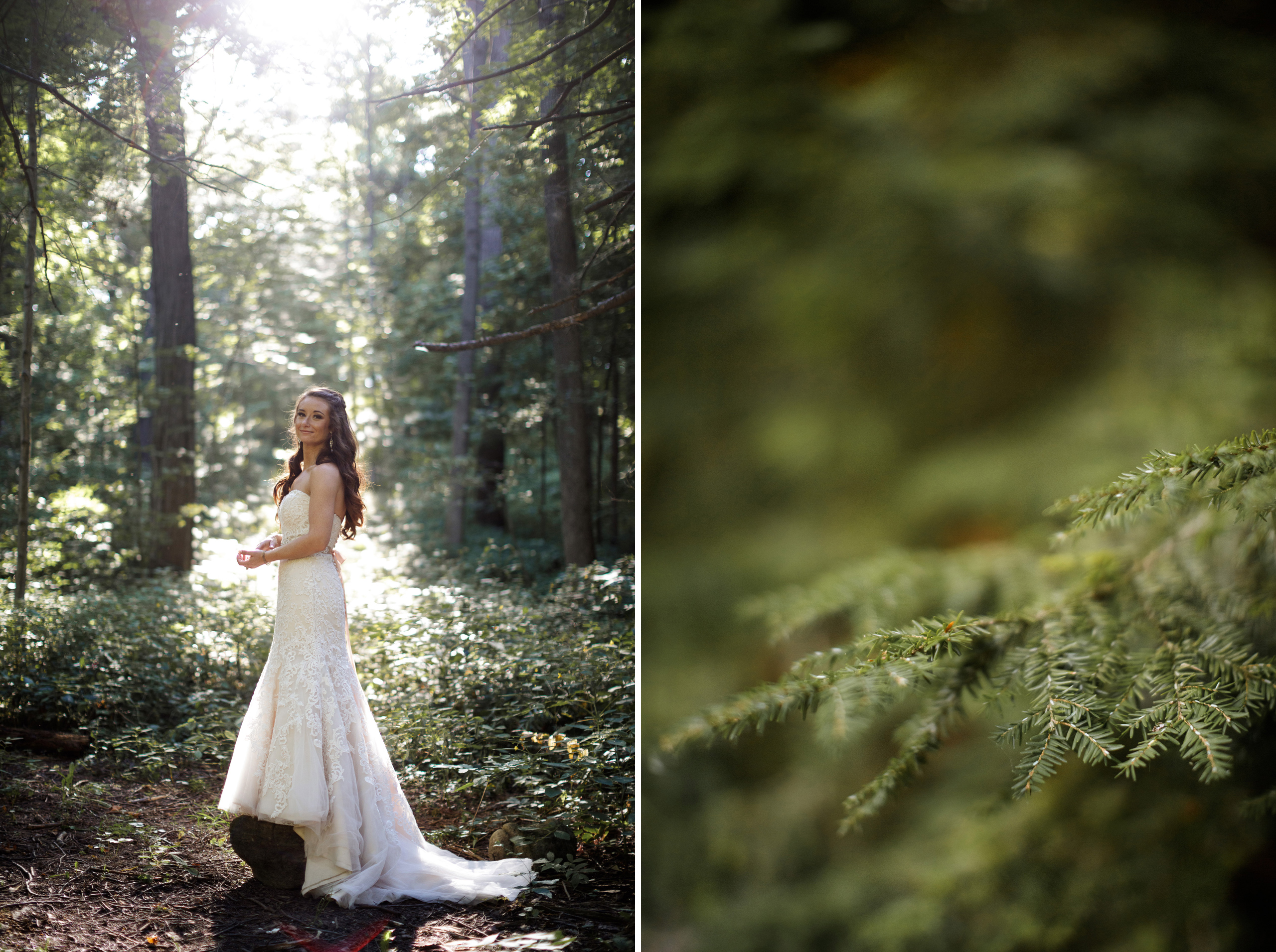 bride forest wedding photography niagara ontario balls falls rustic southcoast beauty