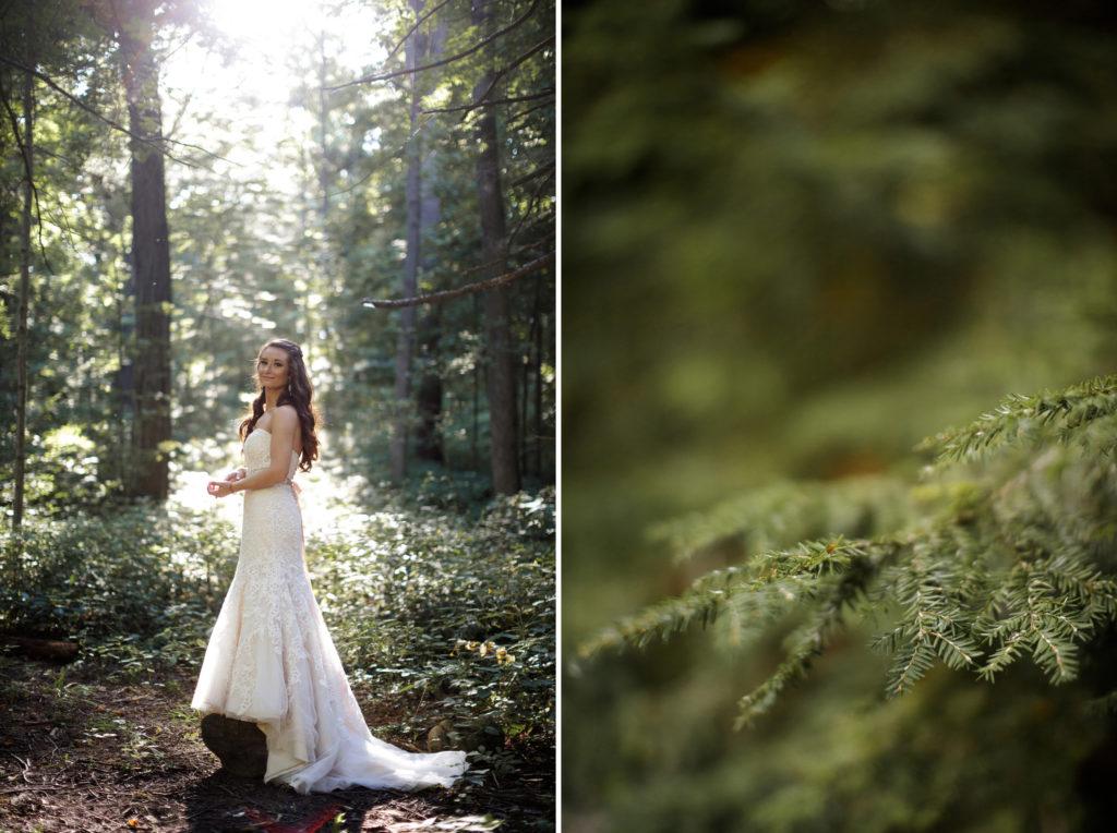 bride forest wedding photography niagara ontario balls falls rustic southcoast beauty