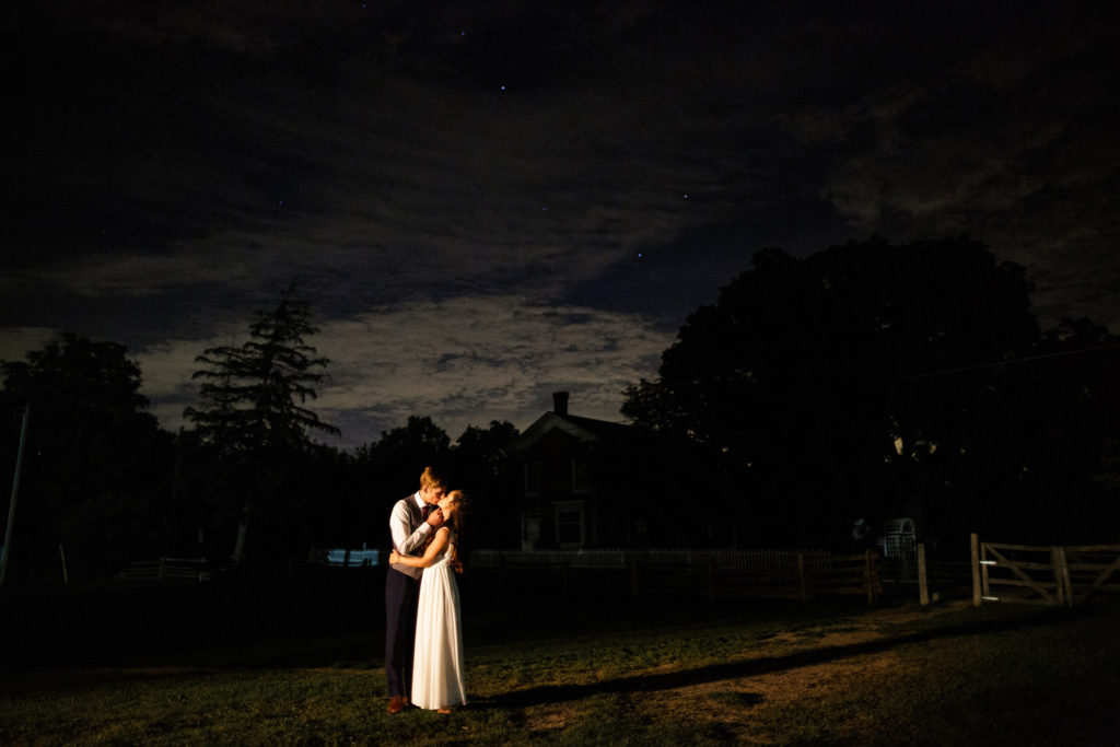 balls falls night wedding rustic barn stars wedding photographer brooker events