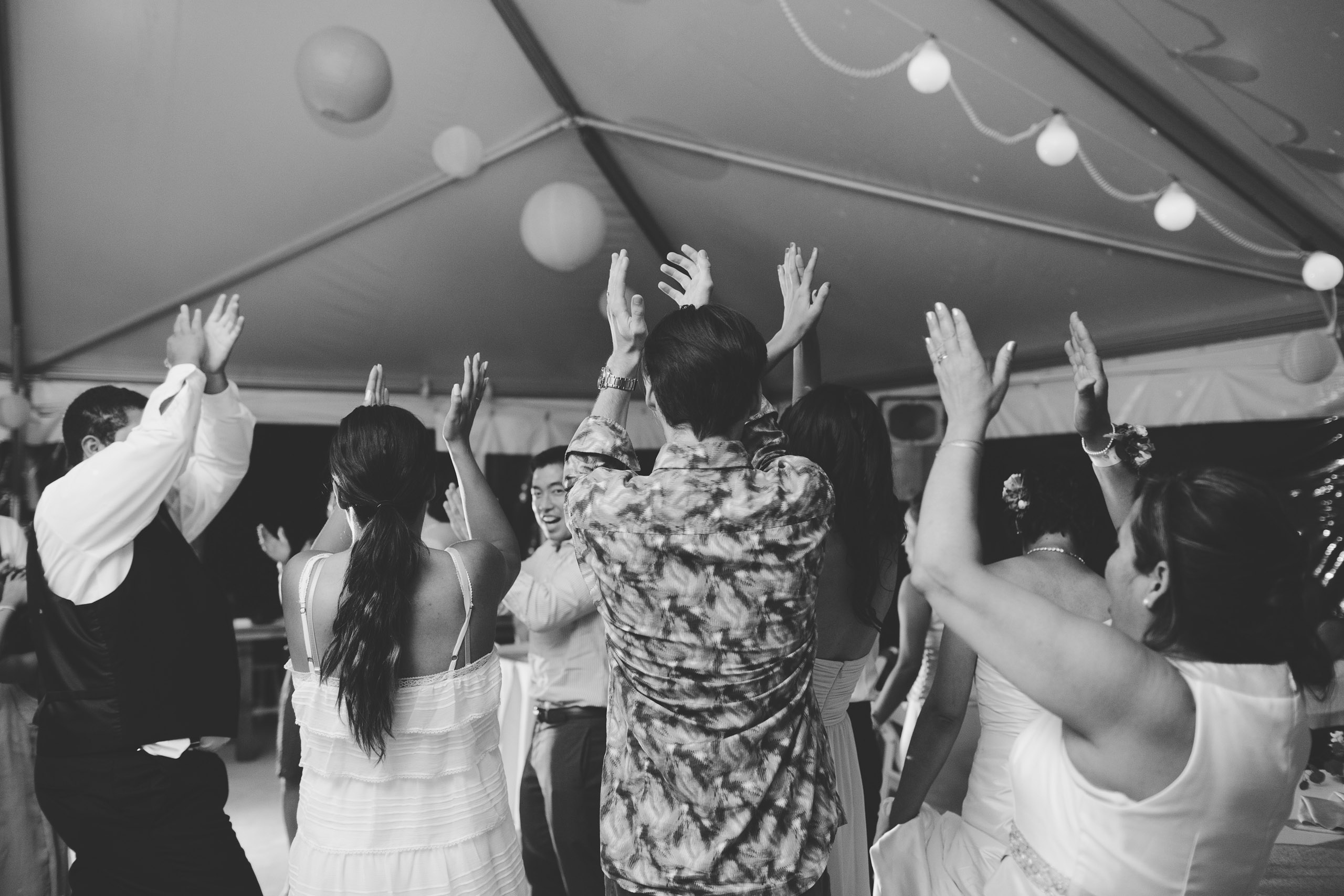 black and white dancing wedding reception niagara photographer