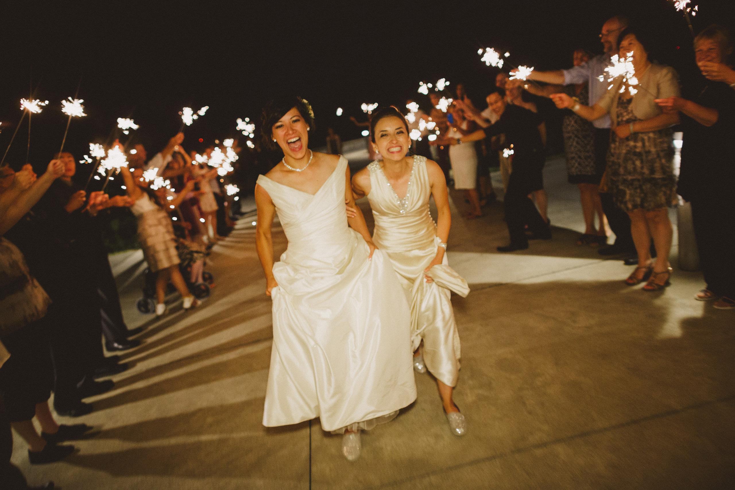 wedding night sparklers send off same sex lgbtq niagara photography