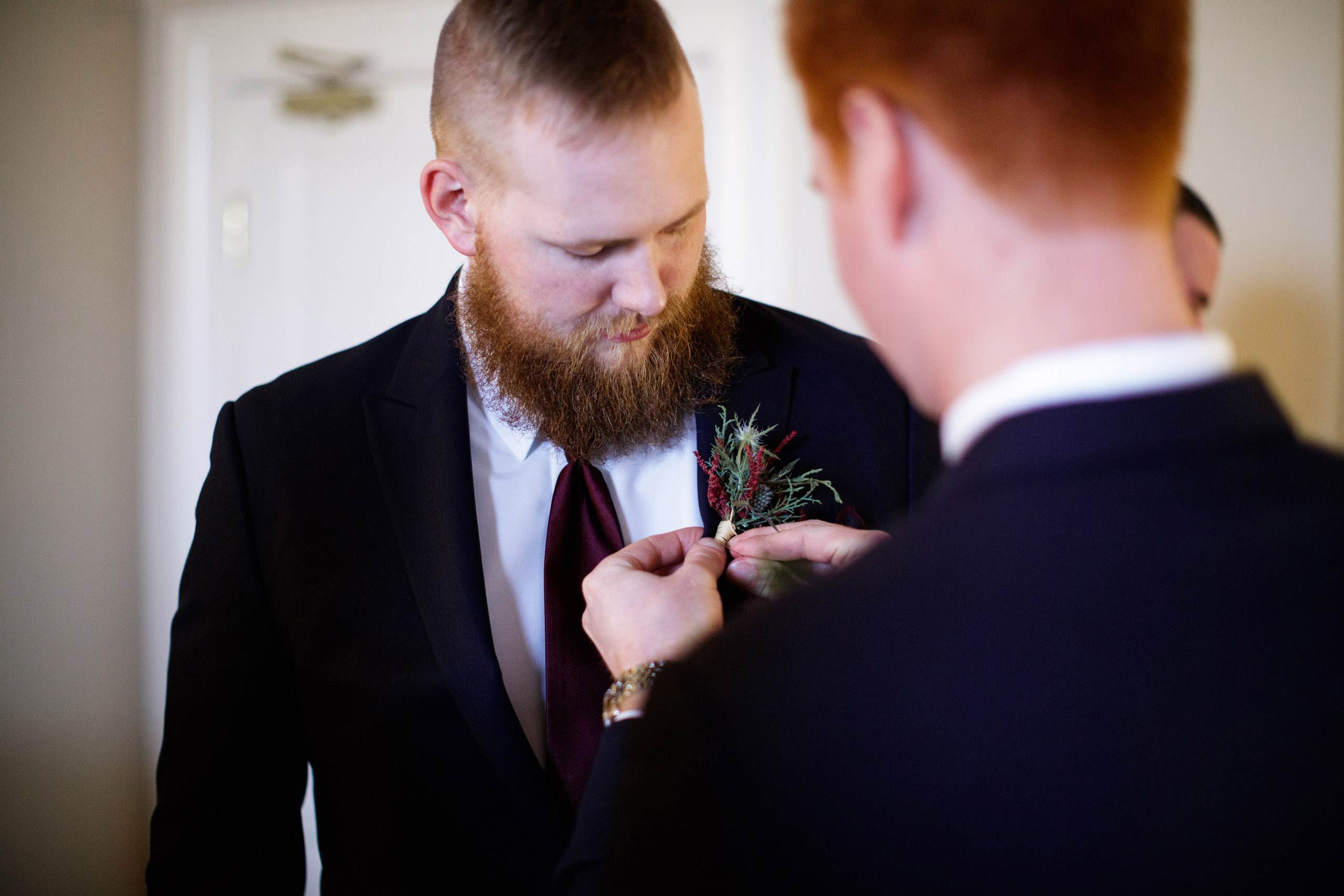groomsmen boutonniere wedding inn on the twenty