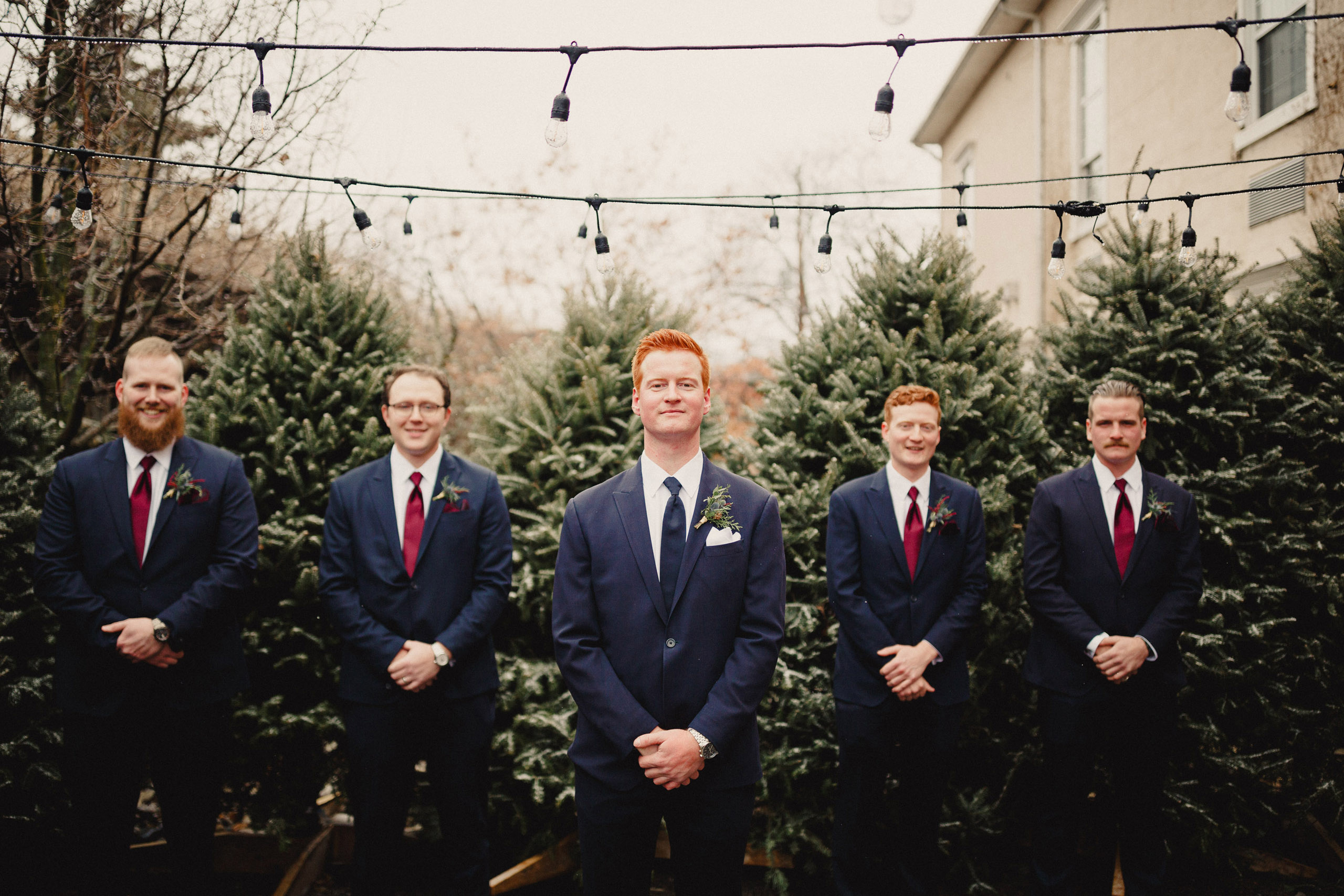 groomsmen watering can winter wedding inn on the twenty photographer