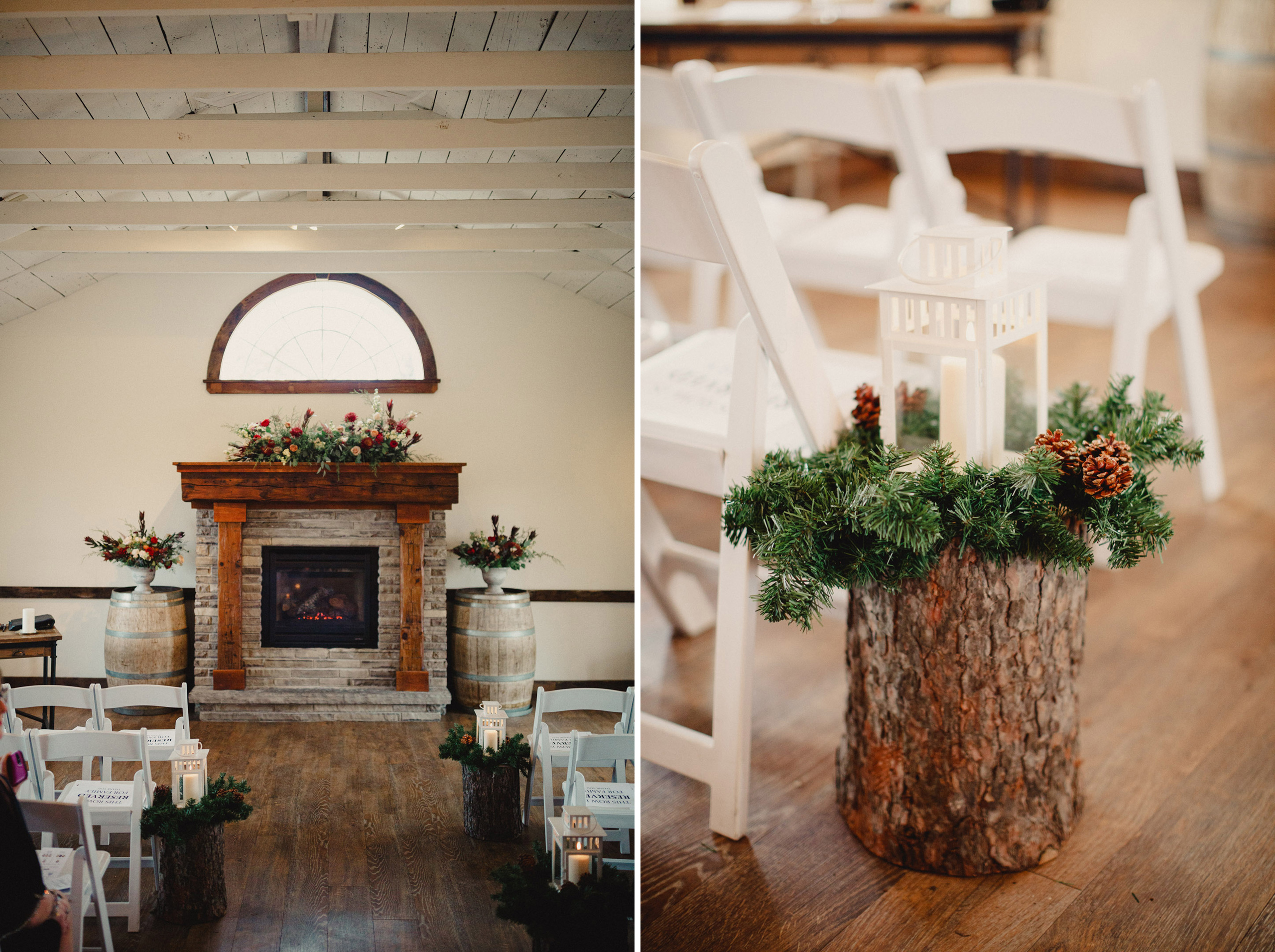 cave spring retreat building winter watering can wedding niagara photographer