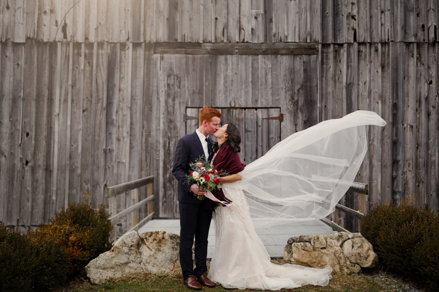 big barn cave spring winery vineyard wedding winter outdoor