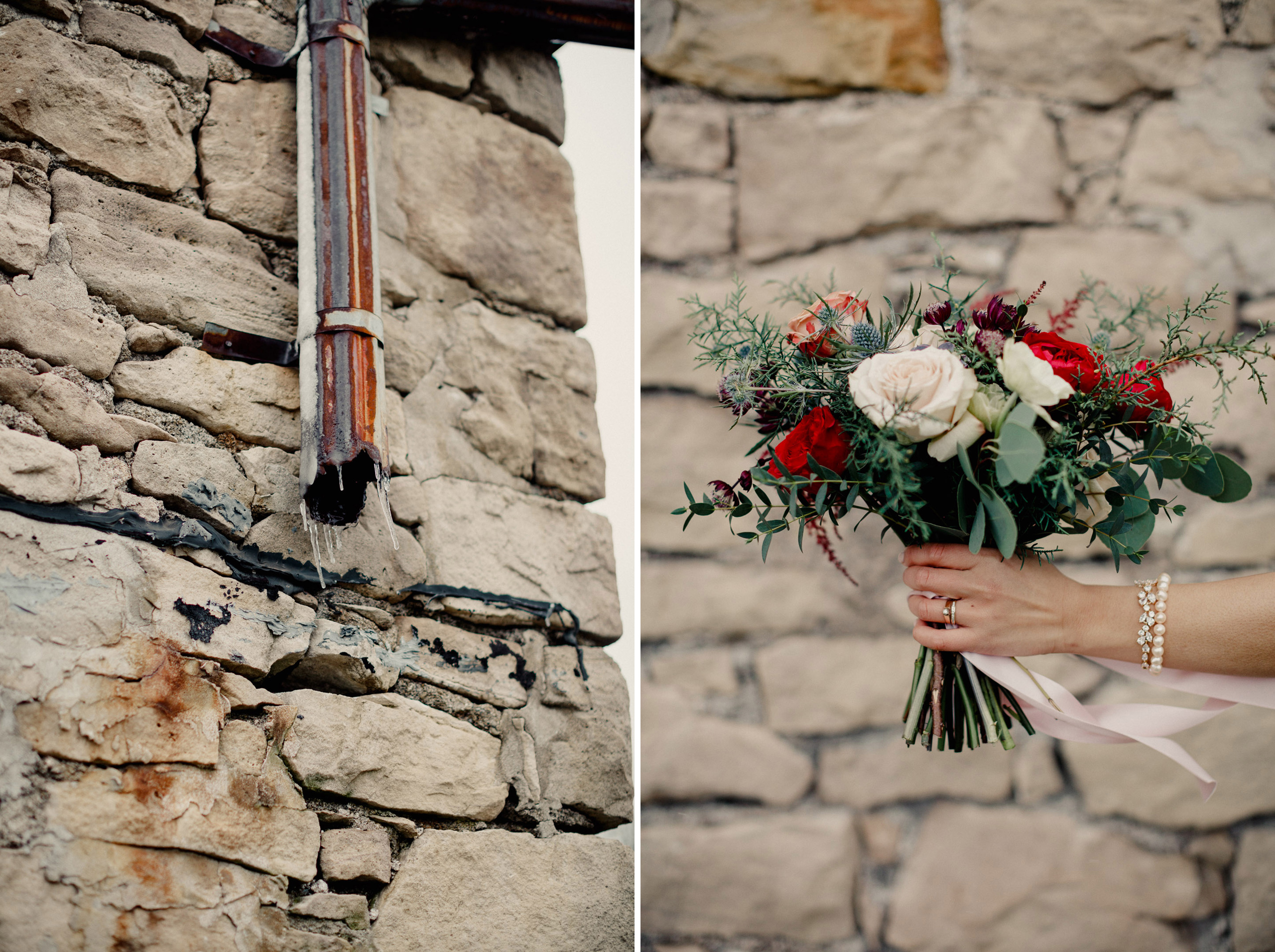 watering can flowers wedding bouquet bride cave spring vineland photographer