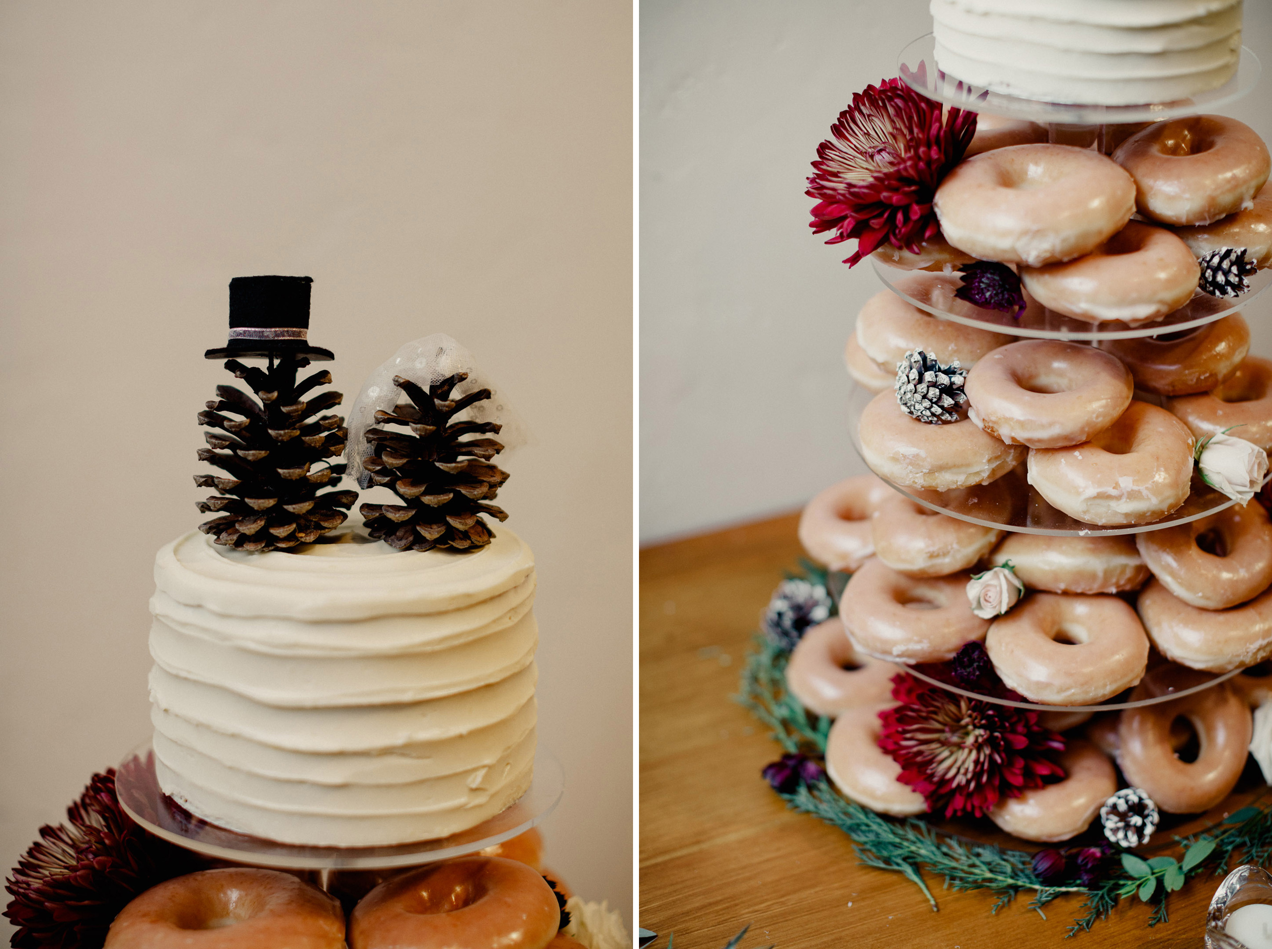 donut cake wedding reception winter inn on the twenty
