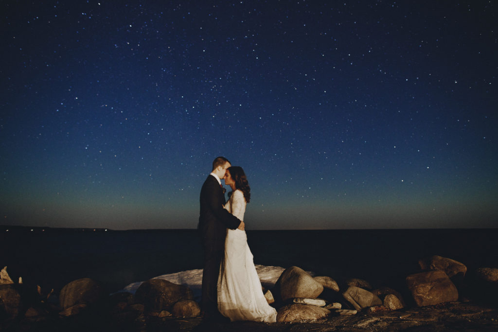serenity cottage wedding owen sound night