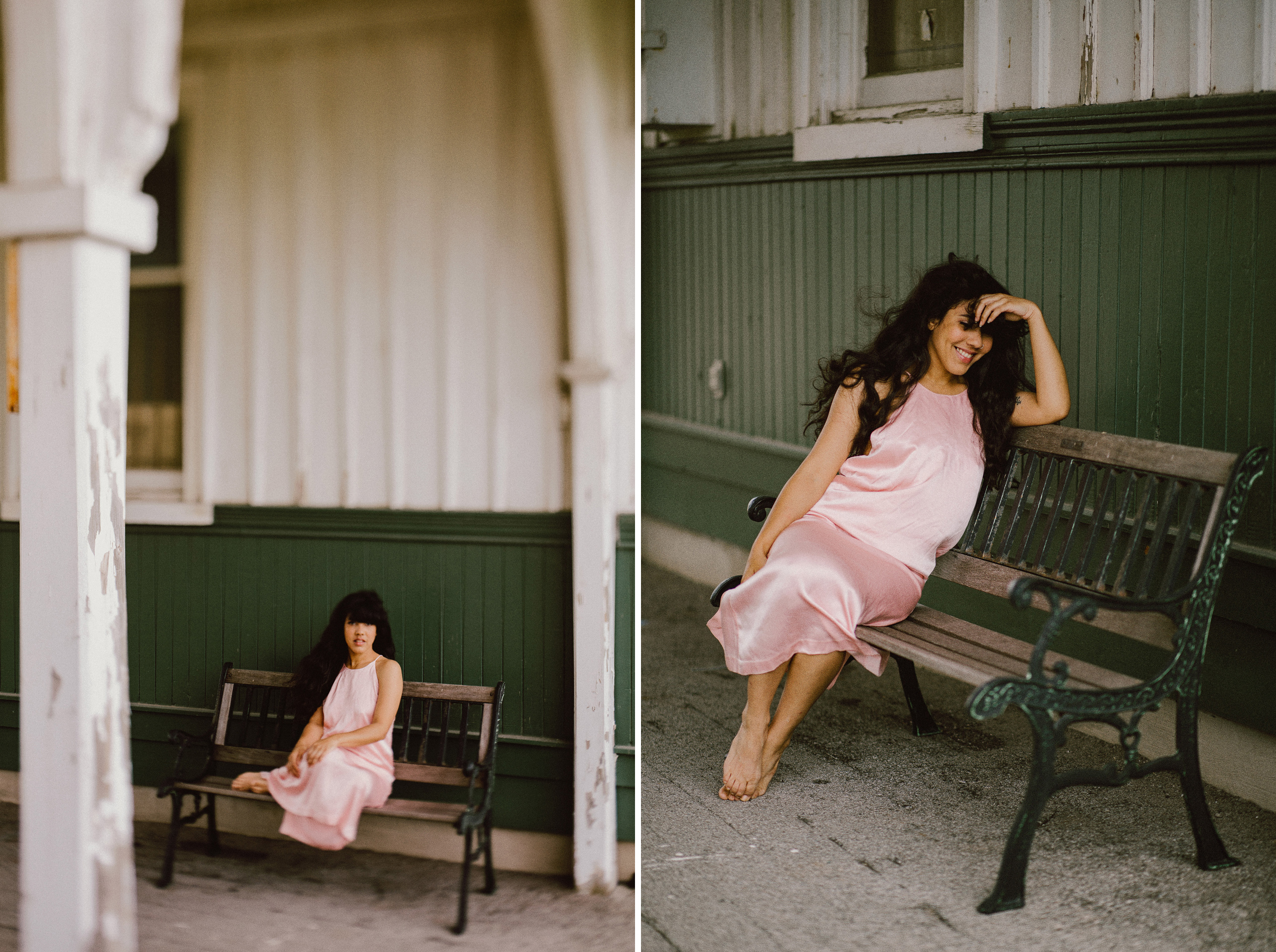 train station outdoor boudoir afterglow south coast beauty photographer