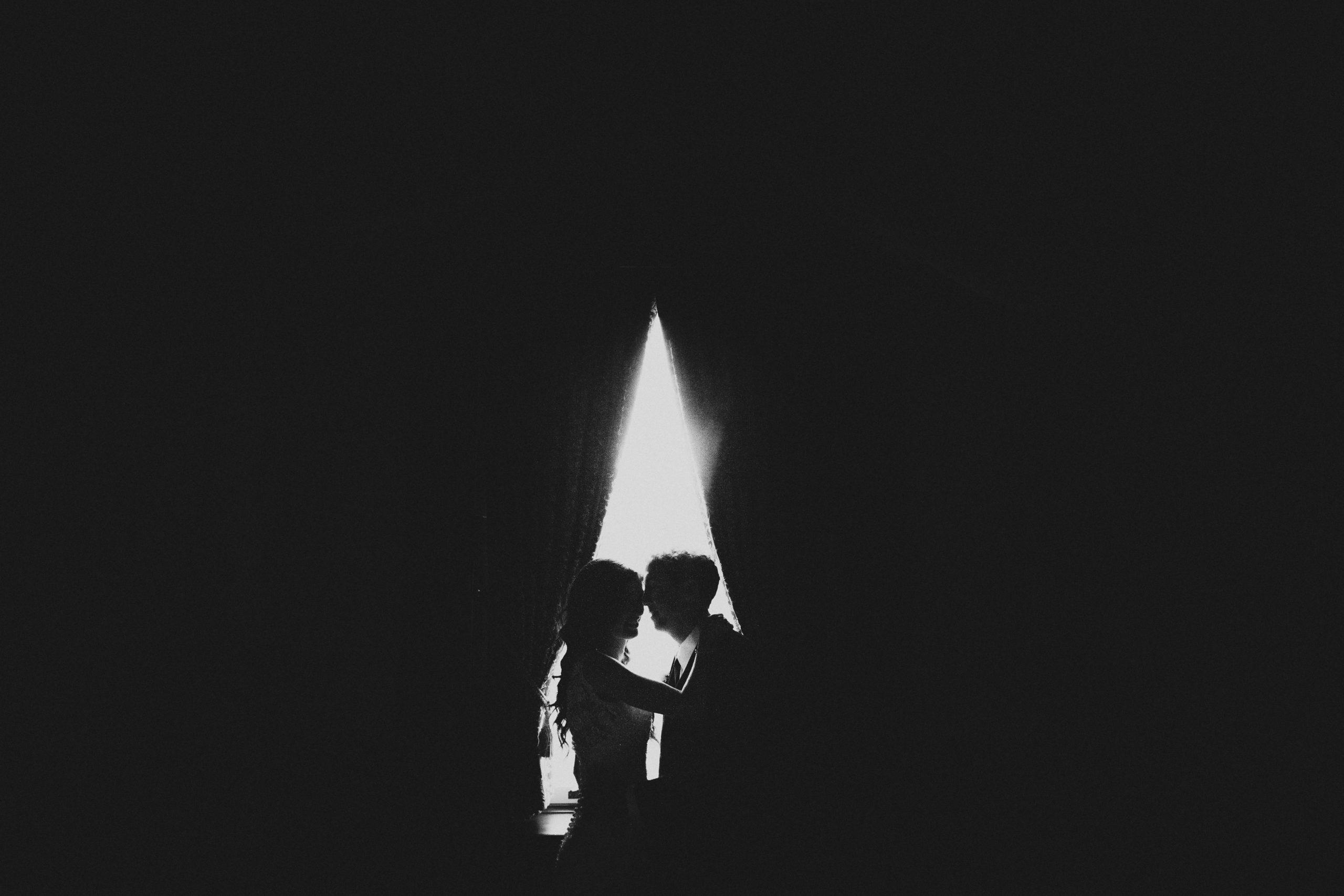 Black White Film Wedding Photography