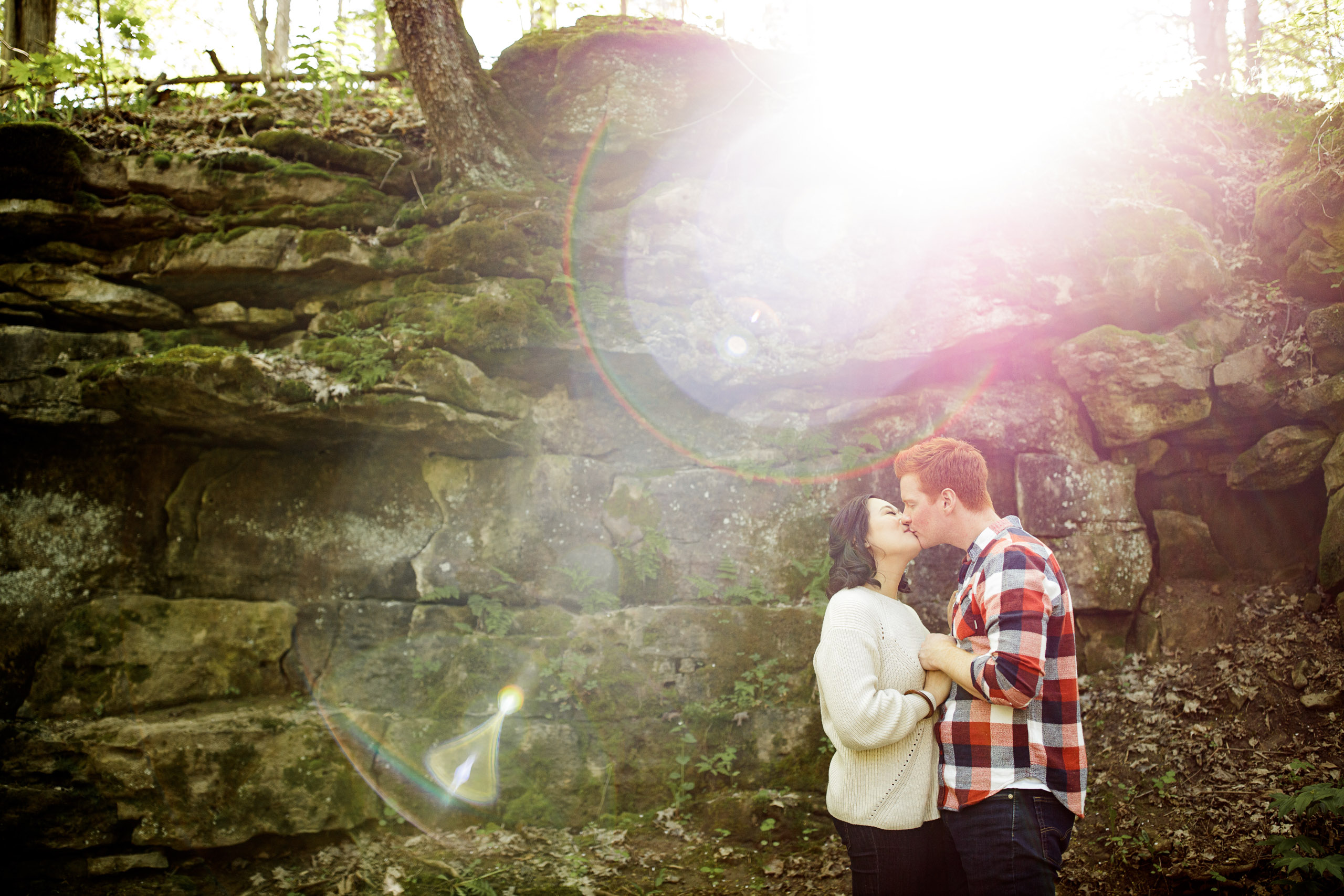 outdoor engagement session niagara couple