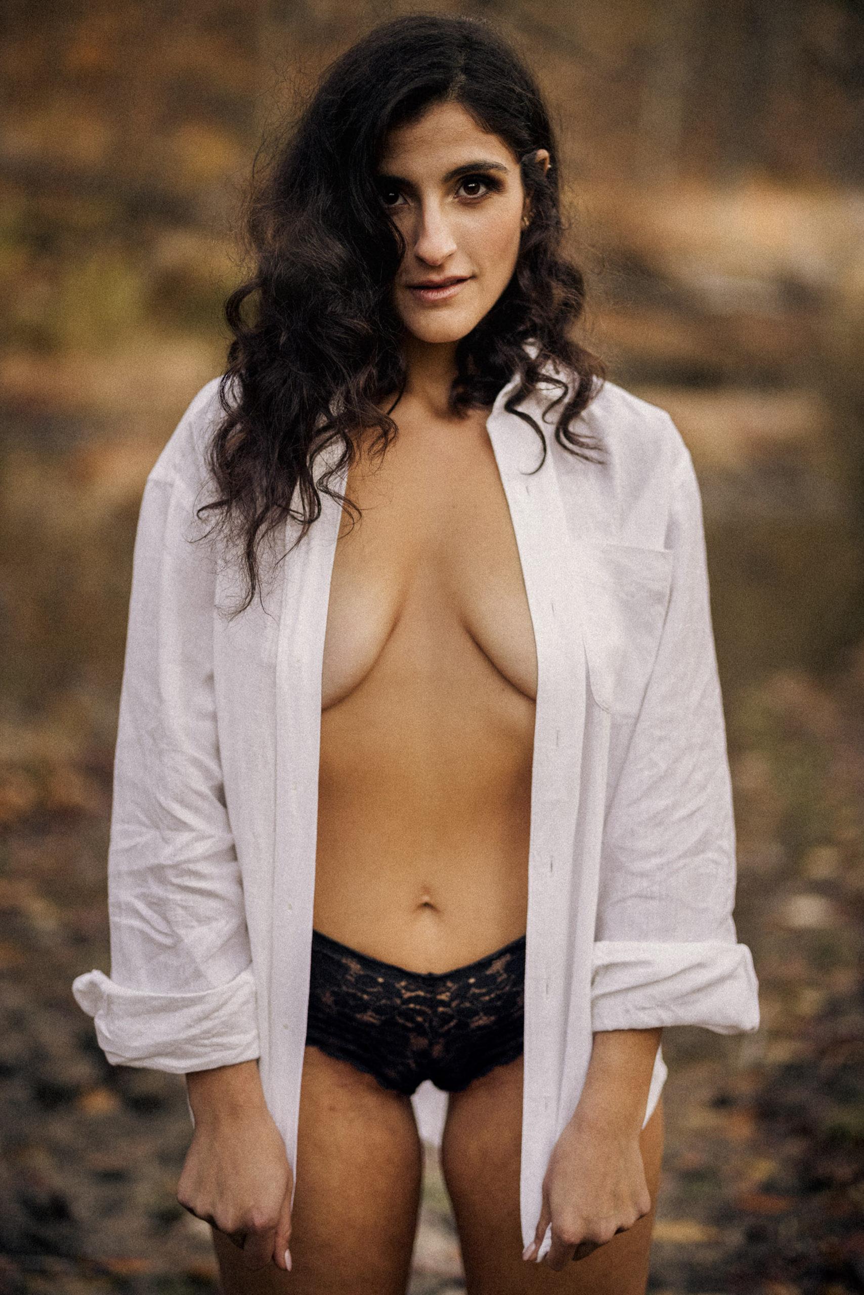 boudoir outdoor film girl mens shirt sexy photography niagara