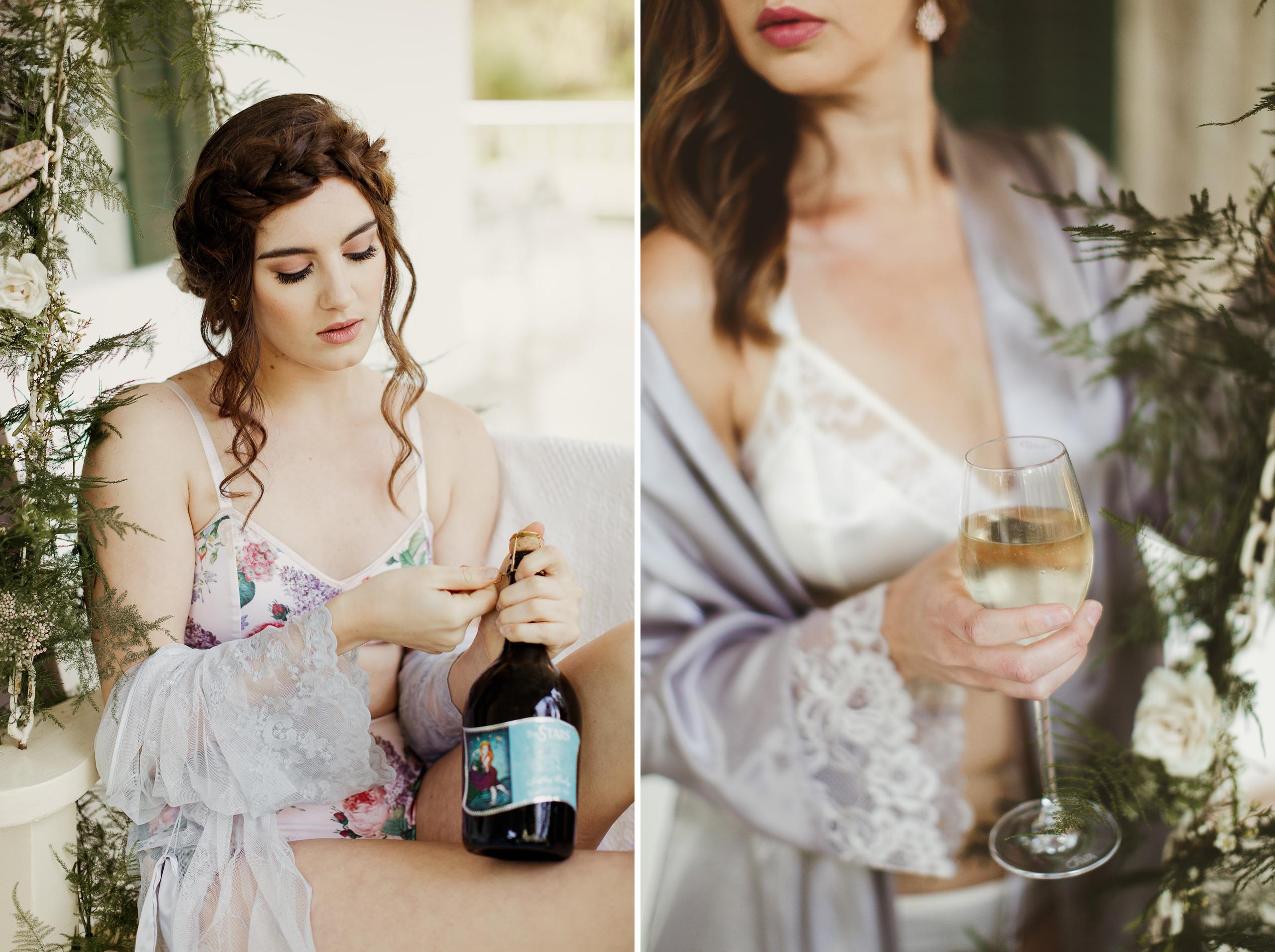 wine region niagara bridesmaids getaway boudoir sexy lingerie spring
