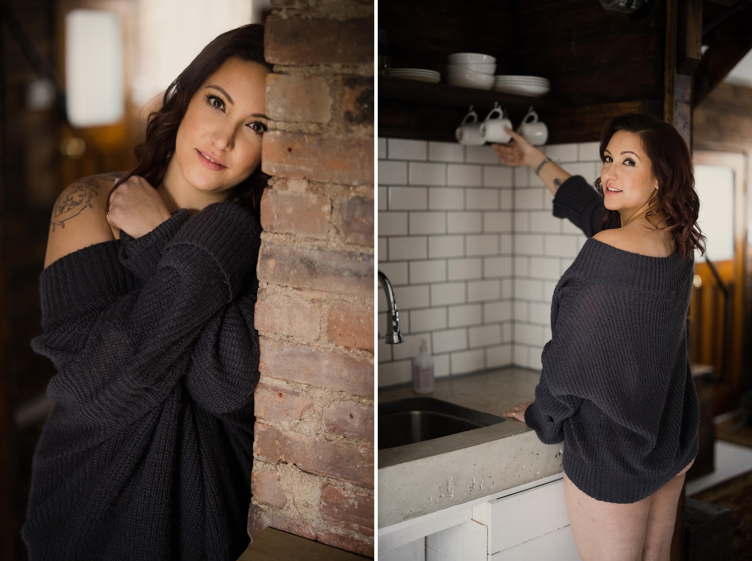 morning boudoir curvy girl niagara photographer sexy