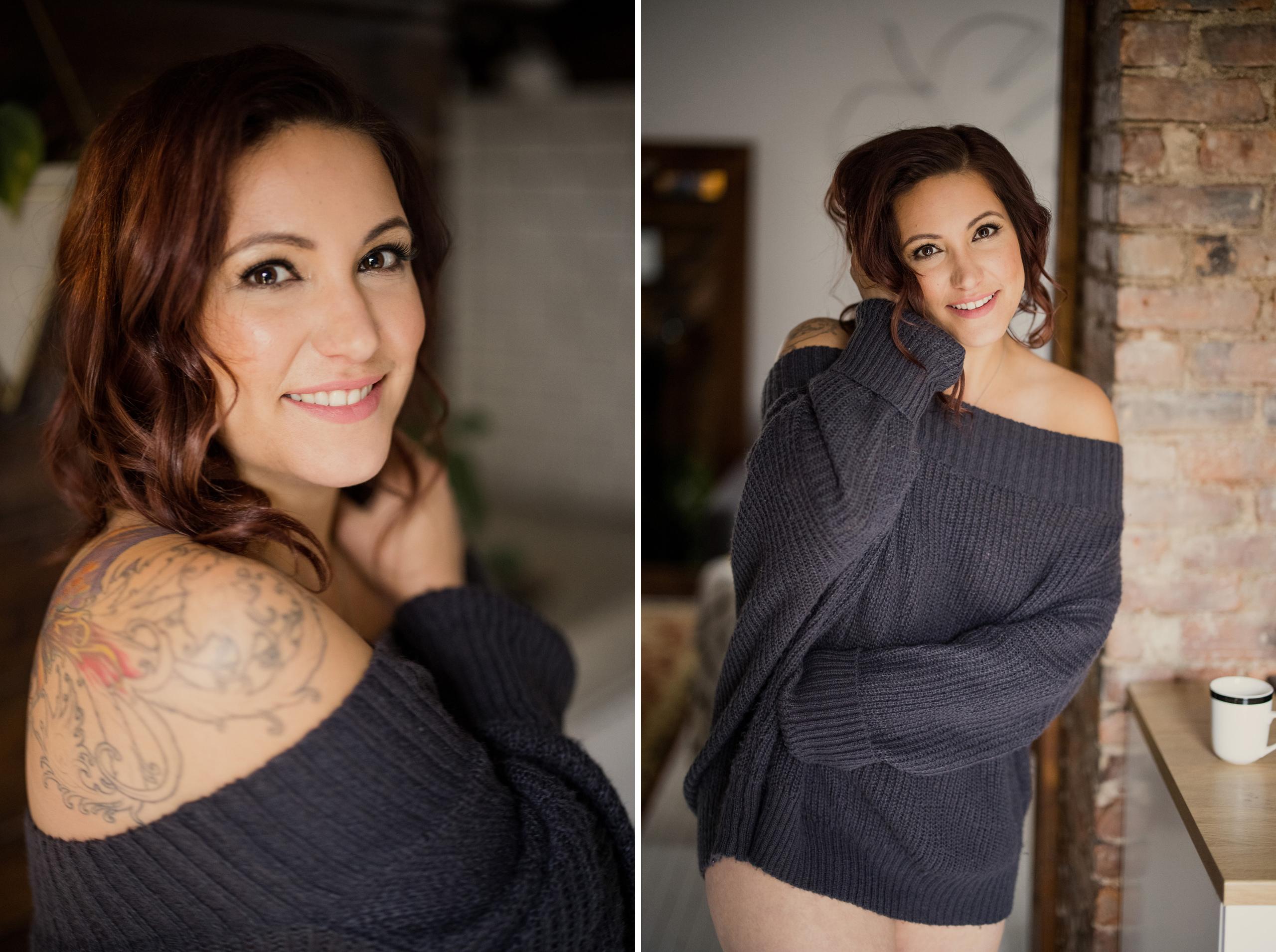 milestone boudoir curvy cute niagara photographer