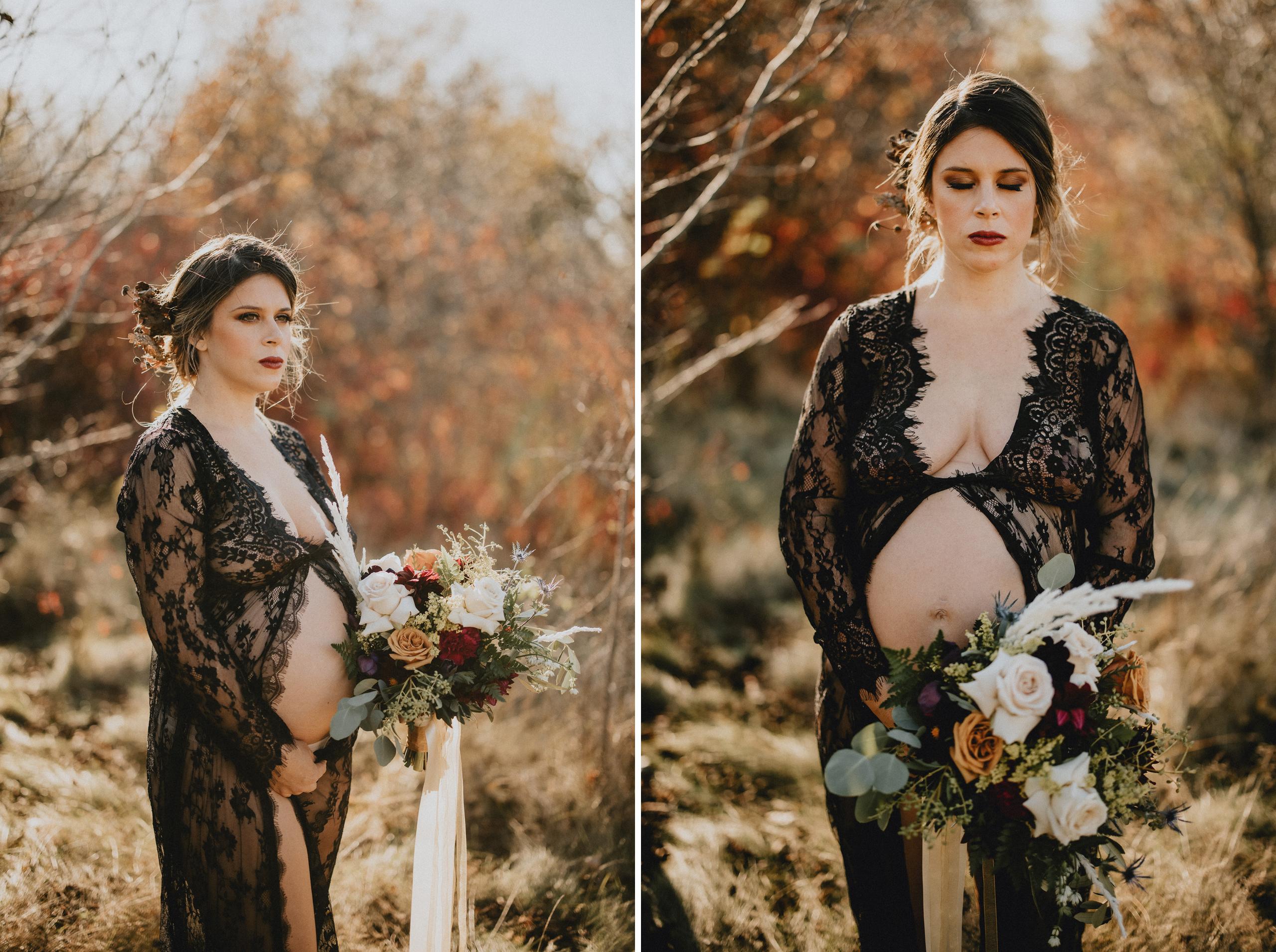 autumn colours fall maternity session niagara photographer