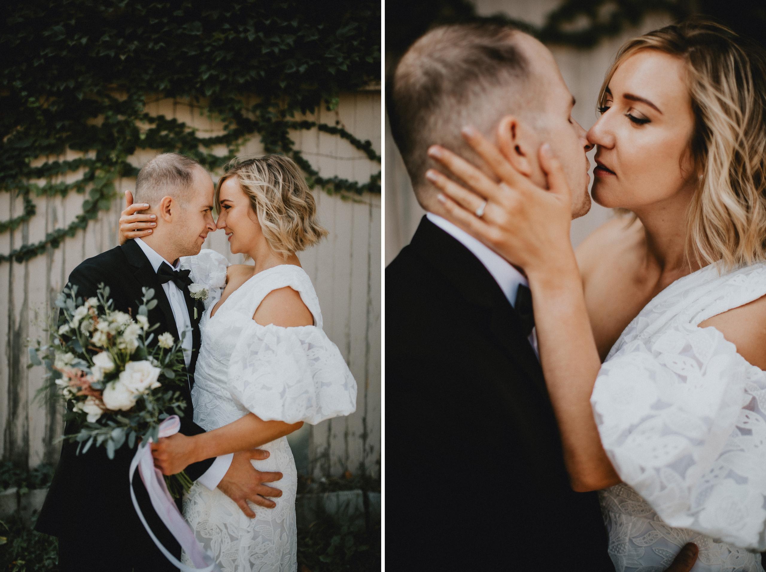 romantic wedding elopement bride groom notl film photographer
